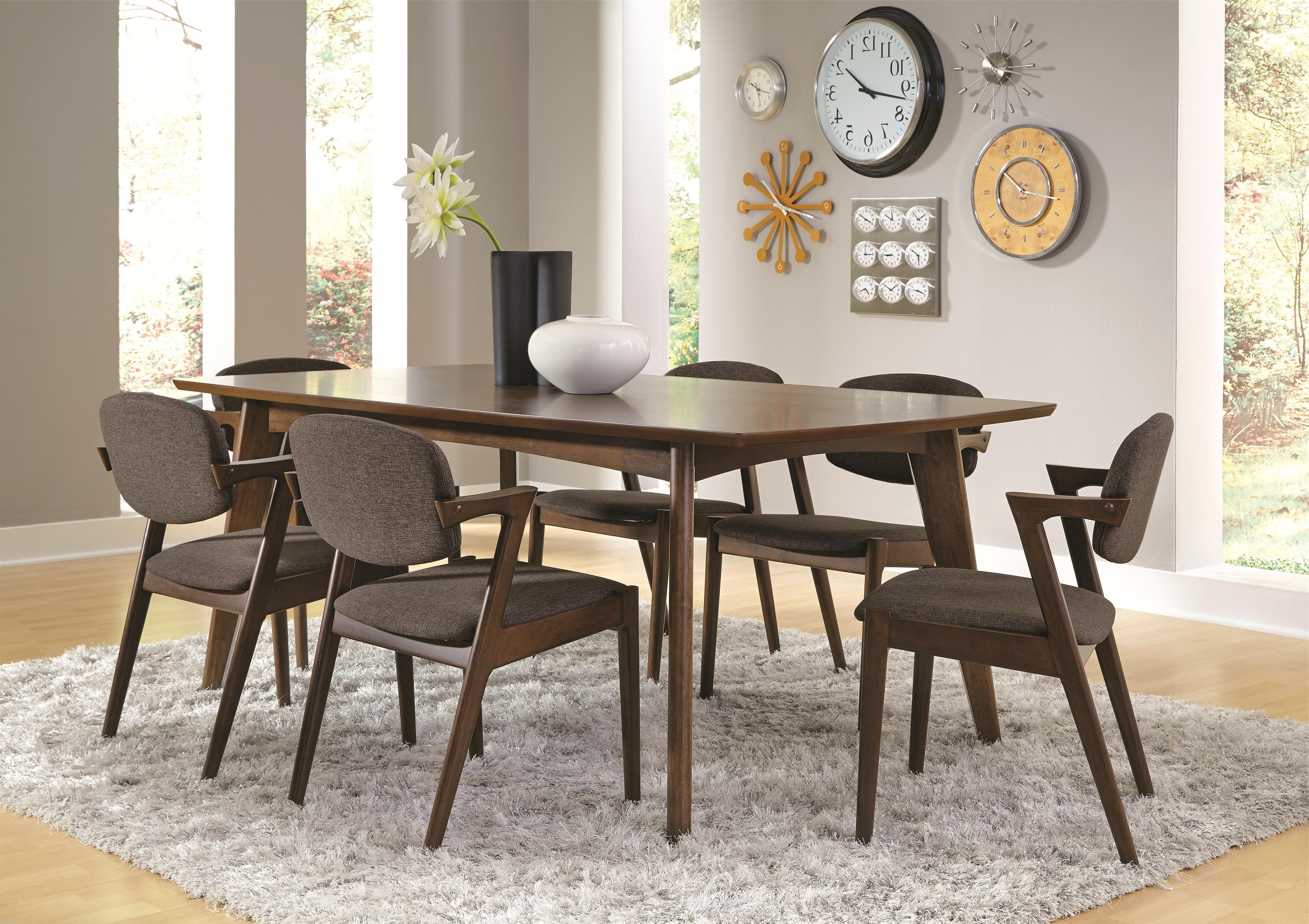 Fashionable Modern Dining Room Sets Regarding Coaster Malone Mid Century Modern 7 Piece Dining Set (View 7 of 25)