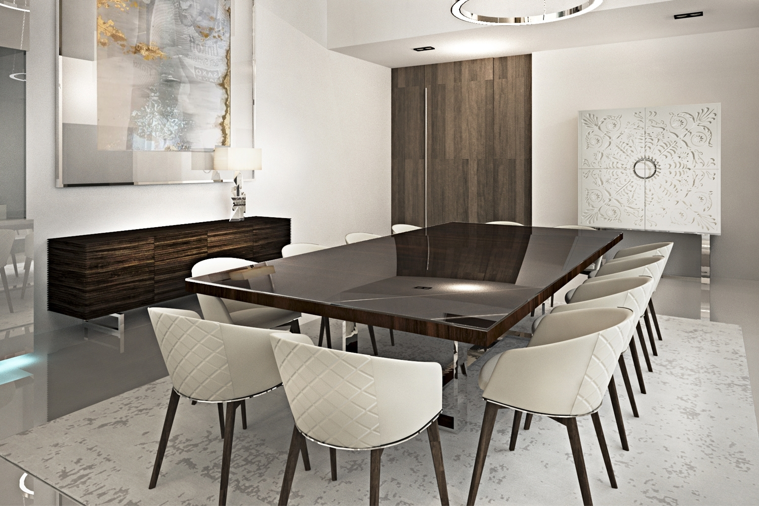 Fashionable Modern Dining Table And Chairs Inside Luxury Dining Room Sets (View 8 of 25)
