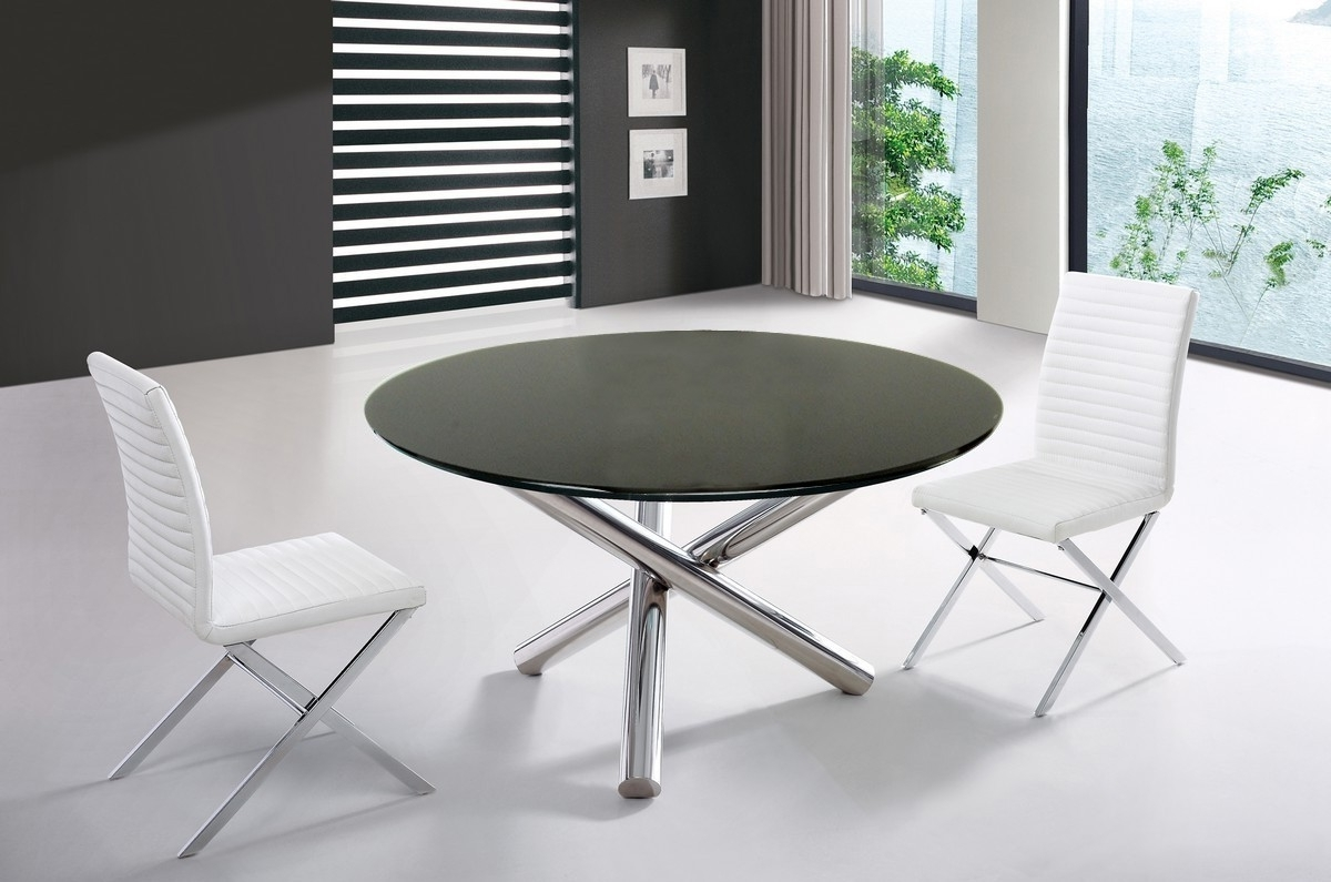 Fashionable Modern Dining Tables With Modrest Frau – Modern Round Dining Table (View 5 of 25)