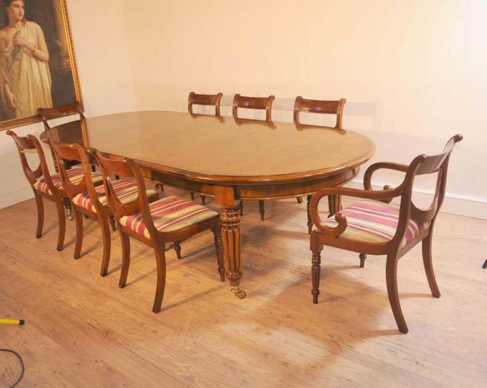 Fashionable Oak Dining Suite With Regard To Regency Dining Set Archives – Victorian Dining Tables (View 6 of 25)
