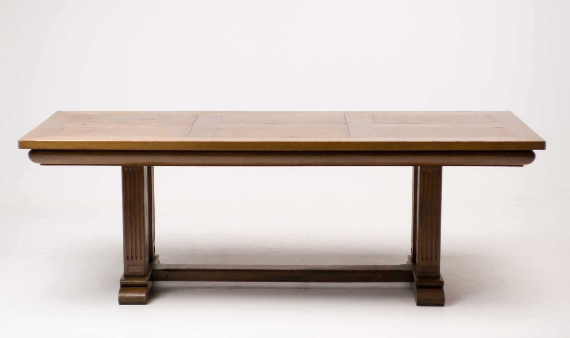 Fashionable Oak Dining Tables For Architectural Oak Dining Table, 1920S For Sale At Pamono (View 9 of 25)