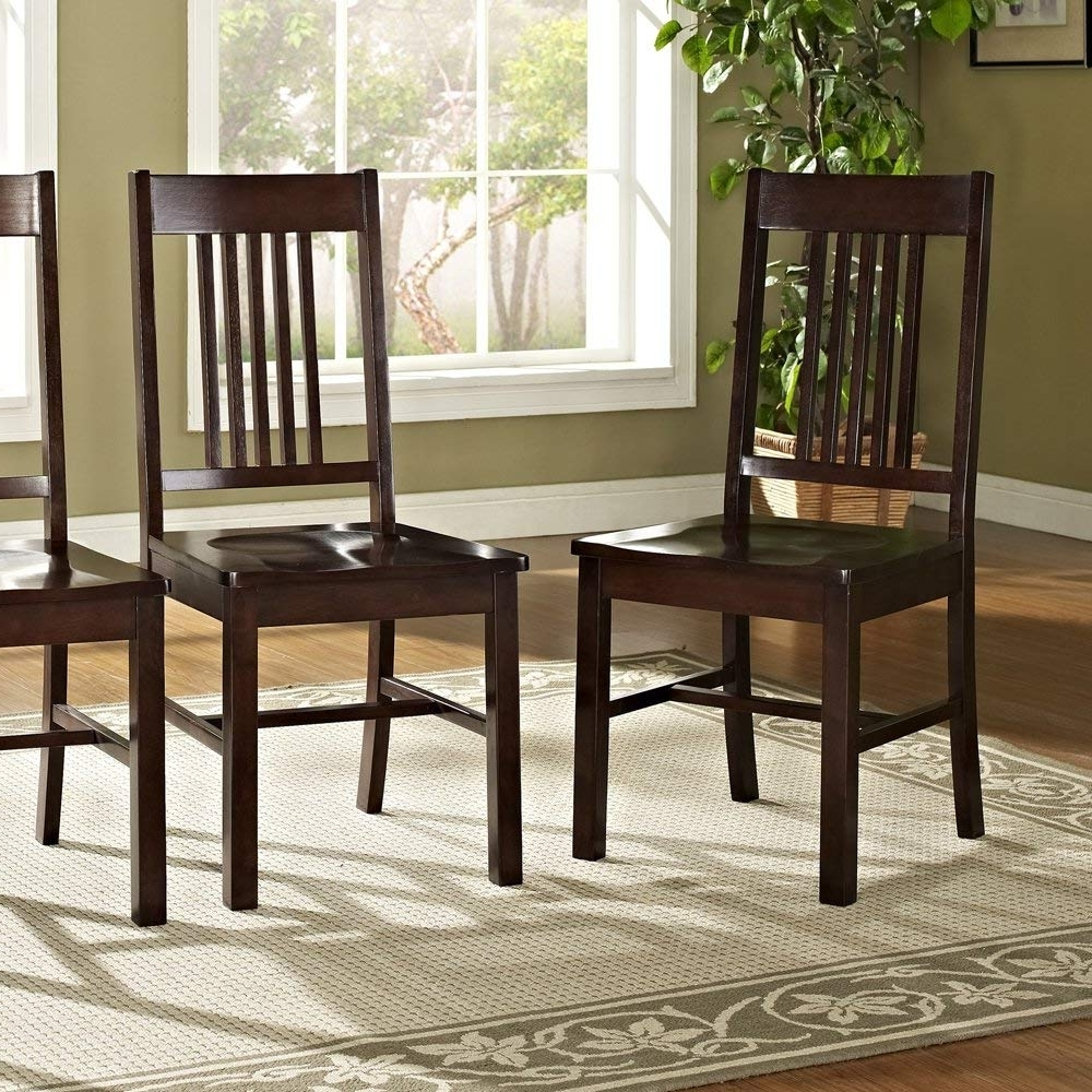 Fashionable Patterson 6 Piece Dining Sets For Amazon – 6 Piece Solid Wood Dining Set, Cappuccino – Table Benches (View 11 of 25)