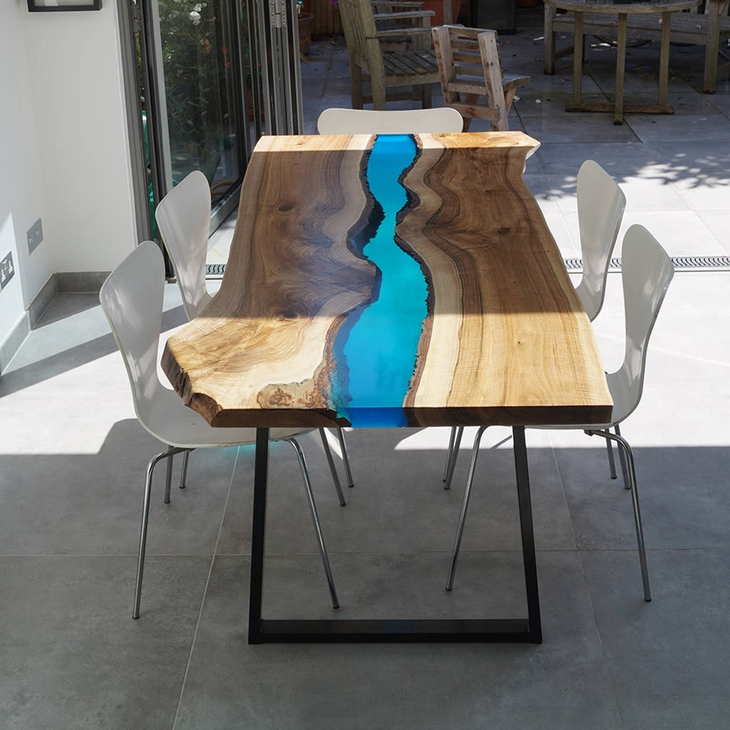 Fashionable Resin River Dining Tablerevive Joinery (View 7 of 25)
