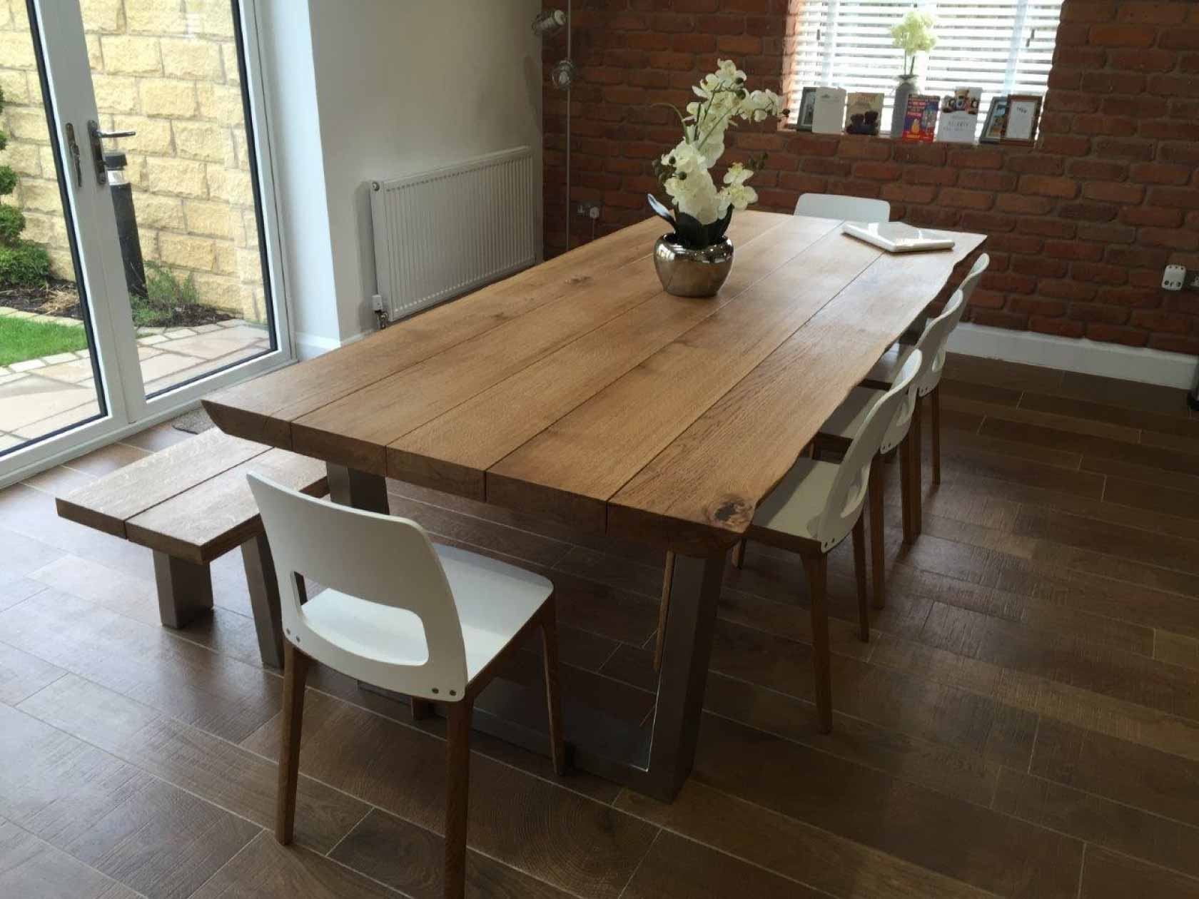 Fashionable Rustic Oak Dining Table (View 9 of 25)