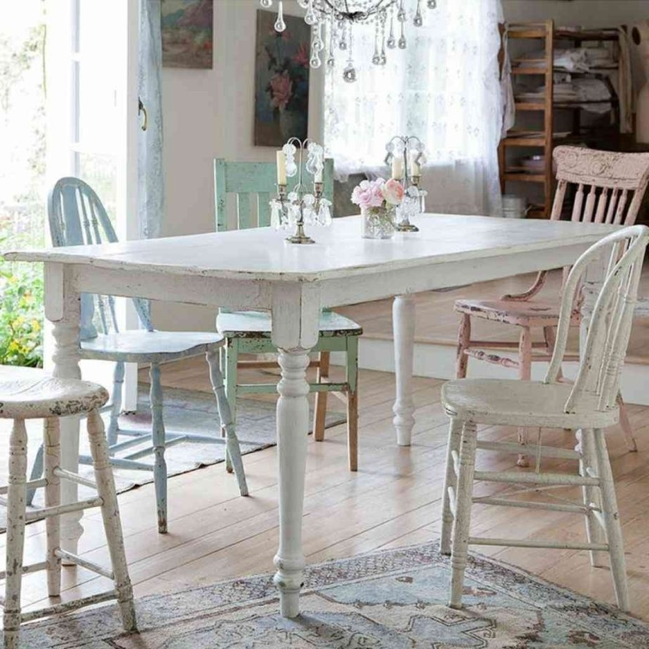Fashionable Shabby Chic Dining Table Tables Ideas Lovely Decoration Kitchen And With Regard To Shabby Chic Dining Sets (View 3 of 25)
