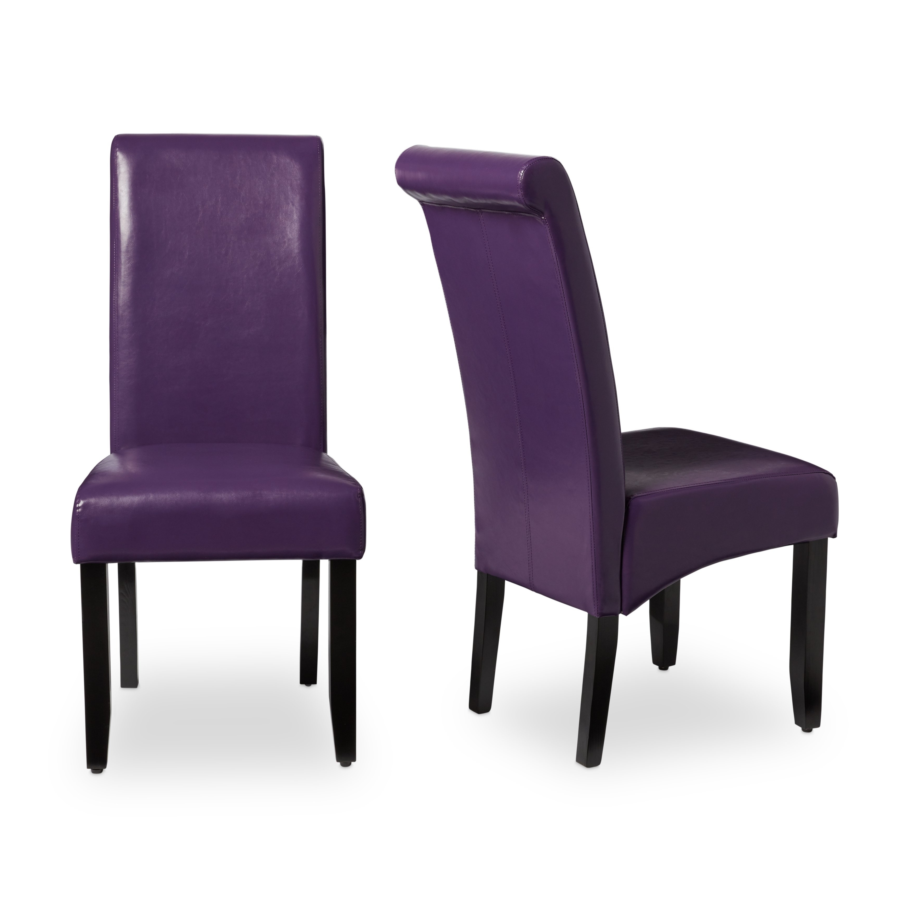 Featured Photo of Purple Faux Leather Dining Chairs