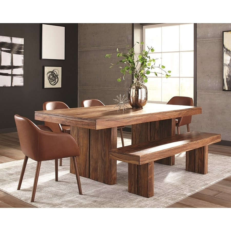 Fashionable Shop Scott Living Honey Sheesham Wood Dining Table At Lowes Inside Sheesham Dining Tables (View 5 of 25)