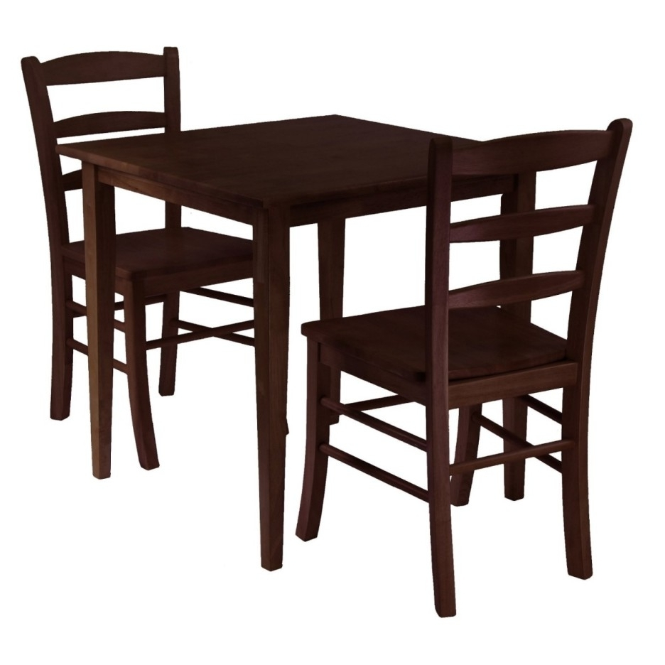 Fashionable Small Dark Wood Dining Tables For Traditional Dark Brown Stained Oak Wood Dining Table With Square (View 21 of 25)
