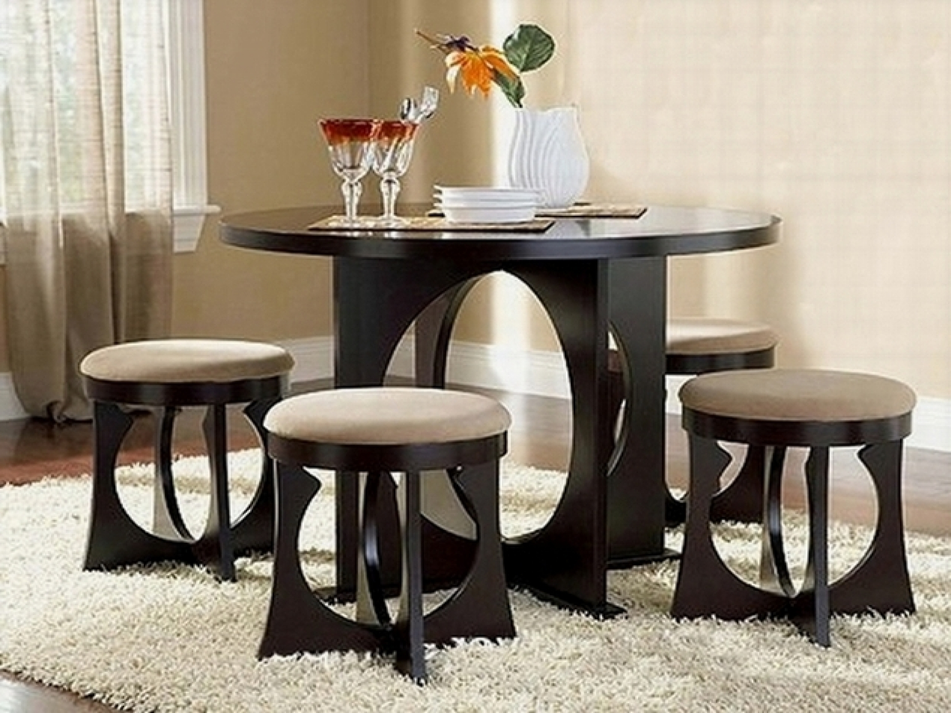 Fashionable Small Dark Wood Dining Tables Within Dining Room Dining Table And Chairs For Small Rooms Compact Dining (View 8 of 25)