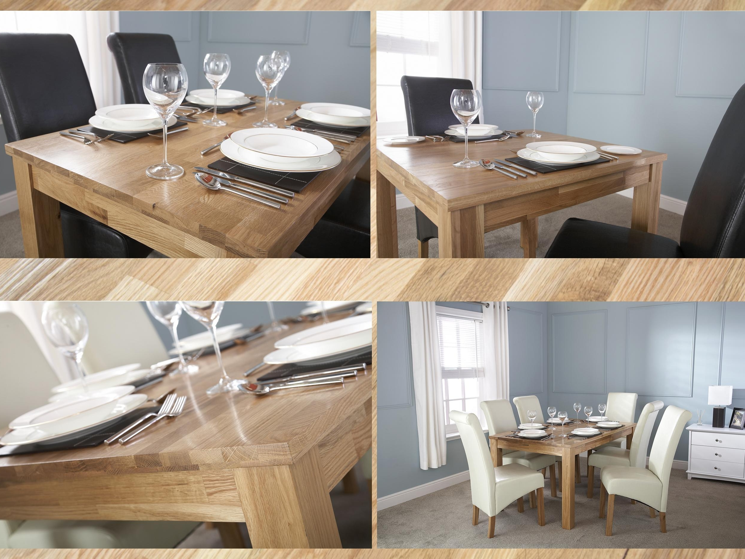 Fashionable Solid Oak Dining Table – Butchers Block Top Design – 3Ft 4Ft 5Ft With 3Ft Dining Tables (View 11 of 25)
