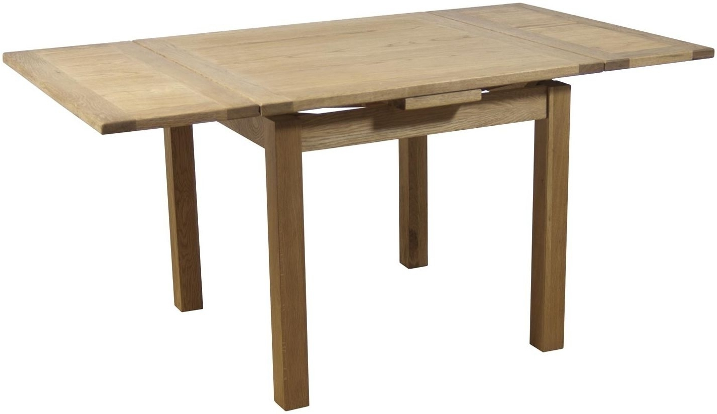 Fashionable Square Extending Dining Tables With Regard To Buy Hampshire Oak Square Draw Leaf Extending Dining Table – 90Cm (View 14 of 25)