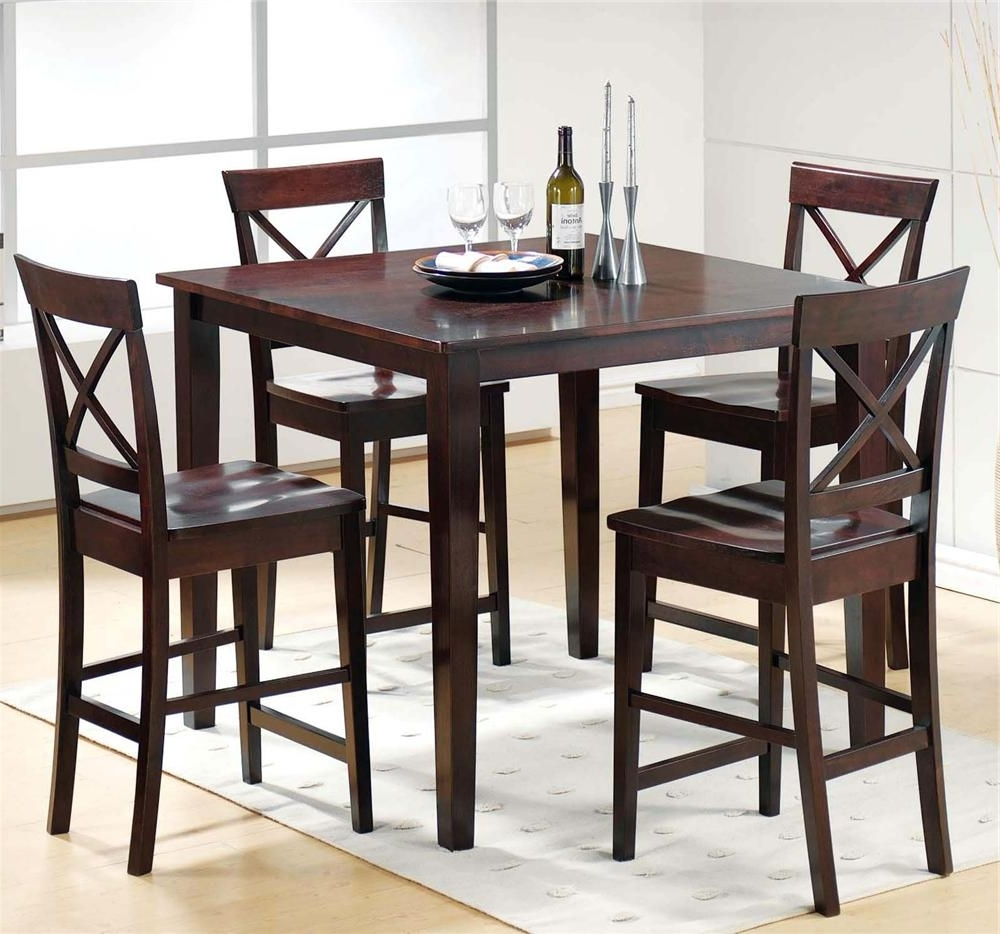 Fashionable Steve Silver Cobalt Ct2000E 5 Piece Pub Table & Chair Set For Dining Tables And Chairs Sets (View 14 of 25)