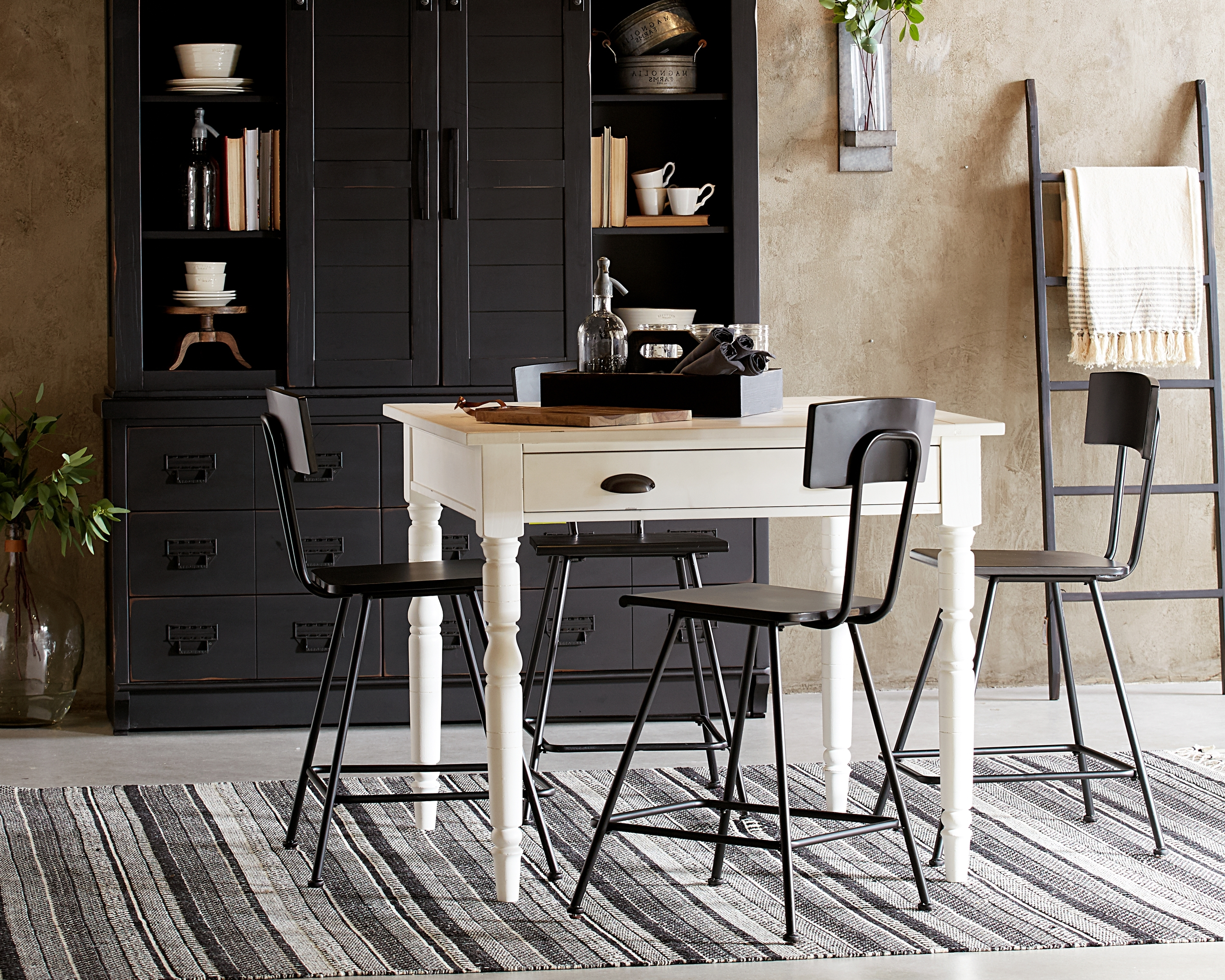 Fashionable Taper Turned Gathering Table – Magnolia Home With Magnolia Home Taper Turned Bench Gathering Tables With Zinc Top (View 2 of 25)