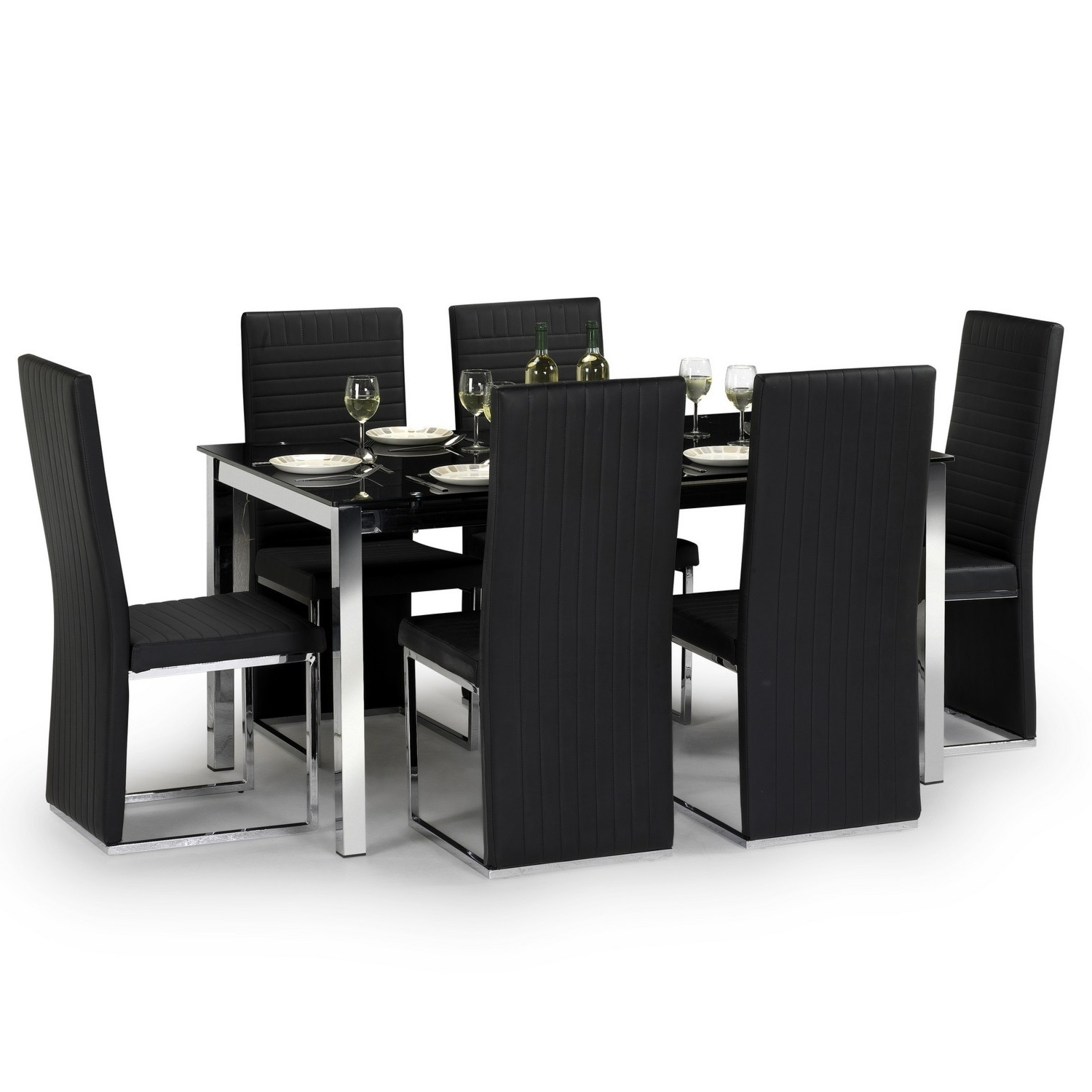 Fashionable Tempo Dining Table And 6 Chairs Pertaining To 6 Chair Dining Table Sets (View 11 of 25)
