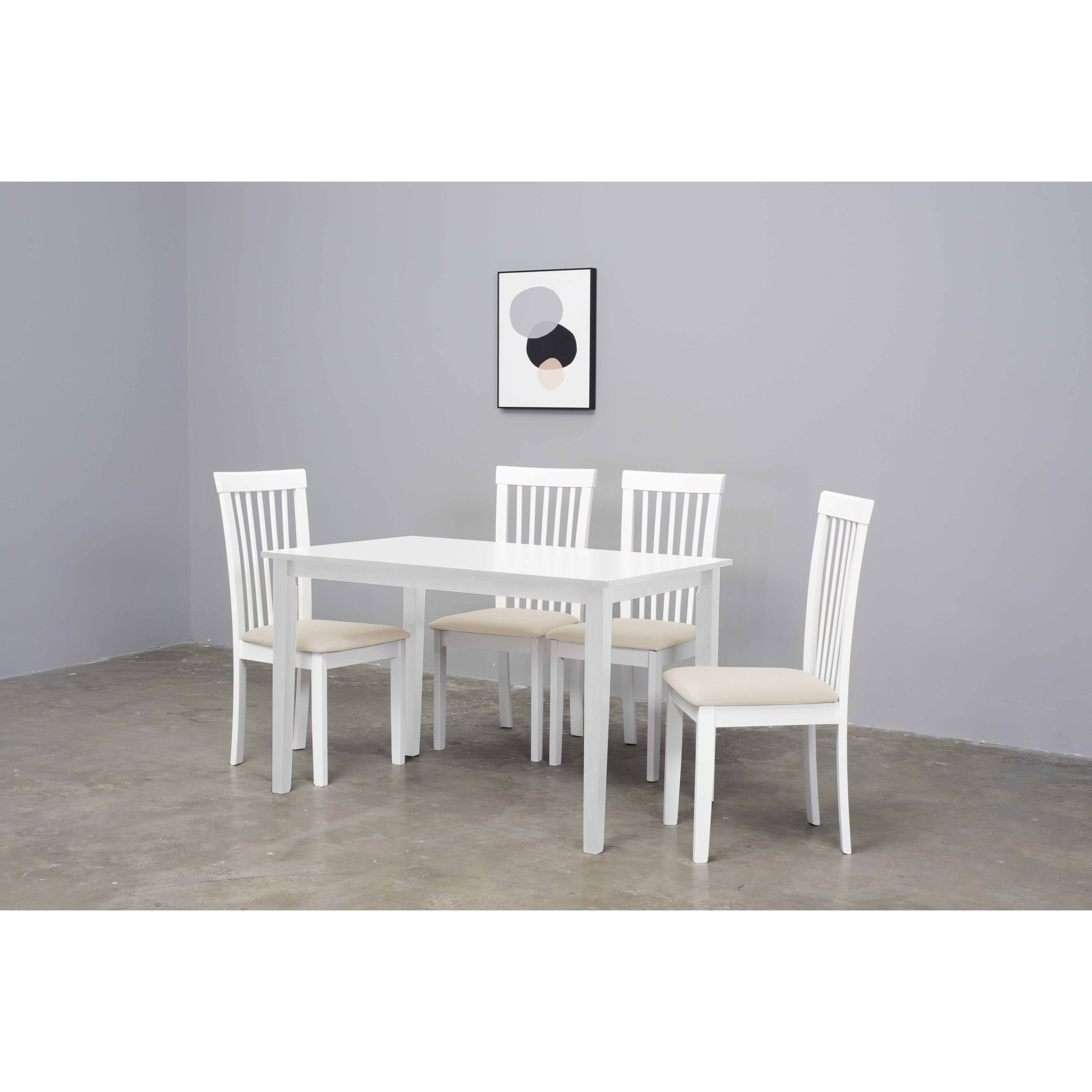 Fashionable Warehouse Of Tiffany Megan 5 Piece Cream Dining Set (Megan Set Of 5 For Cream Dining Tables And Chairs (View 12 of 25)
