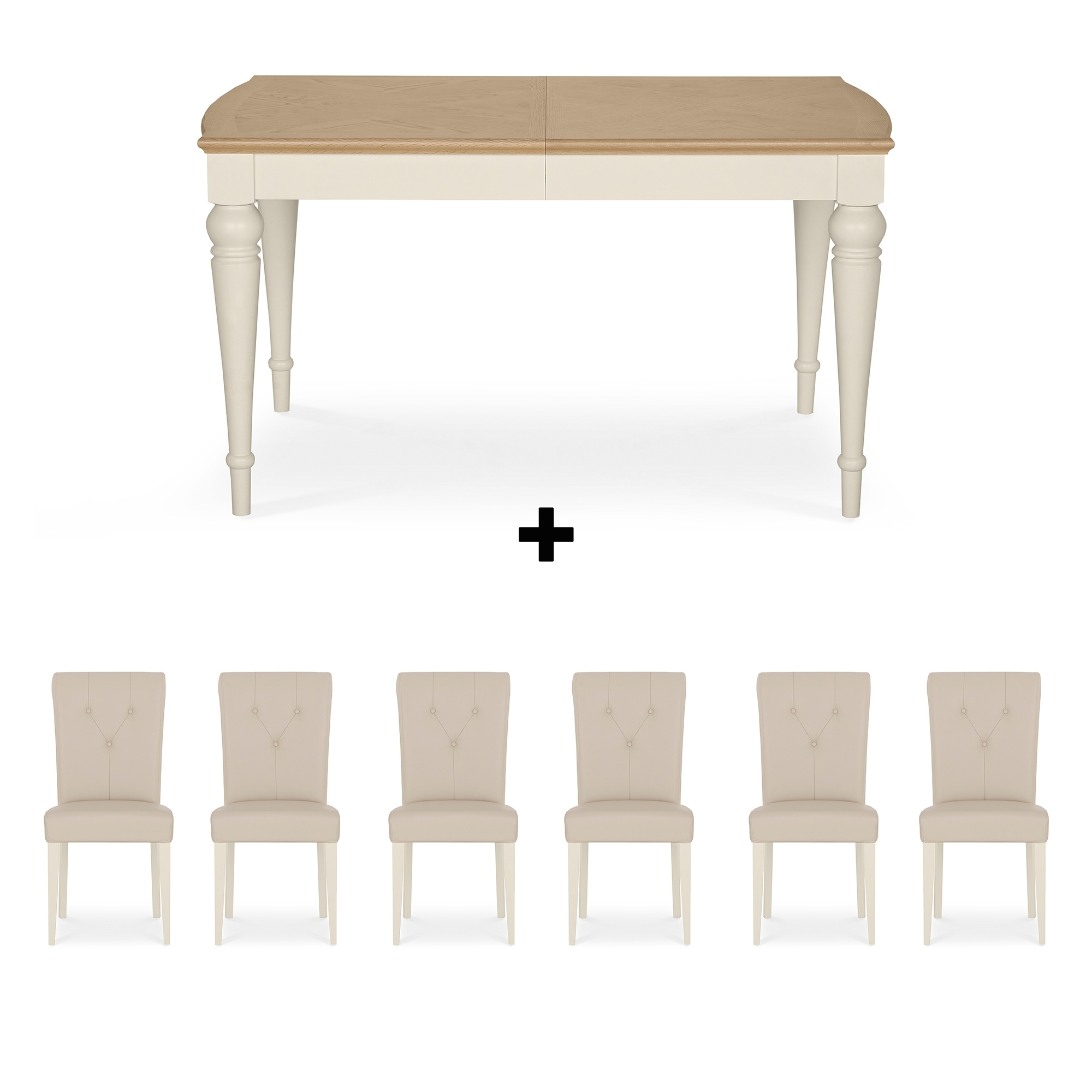 Fashionable White Dining Tables With 6 Chairs For Cookes Collection Geneva Oak And Antique White Dining Table And  (View 8 of 25)