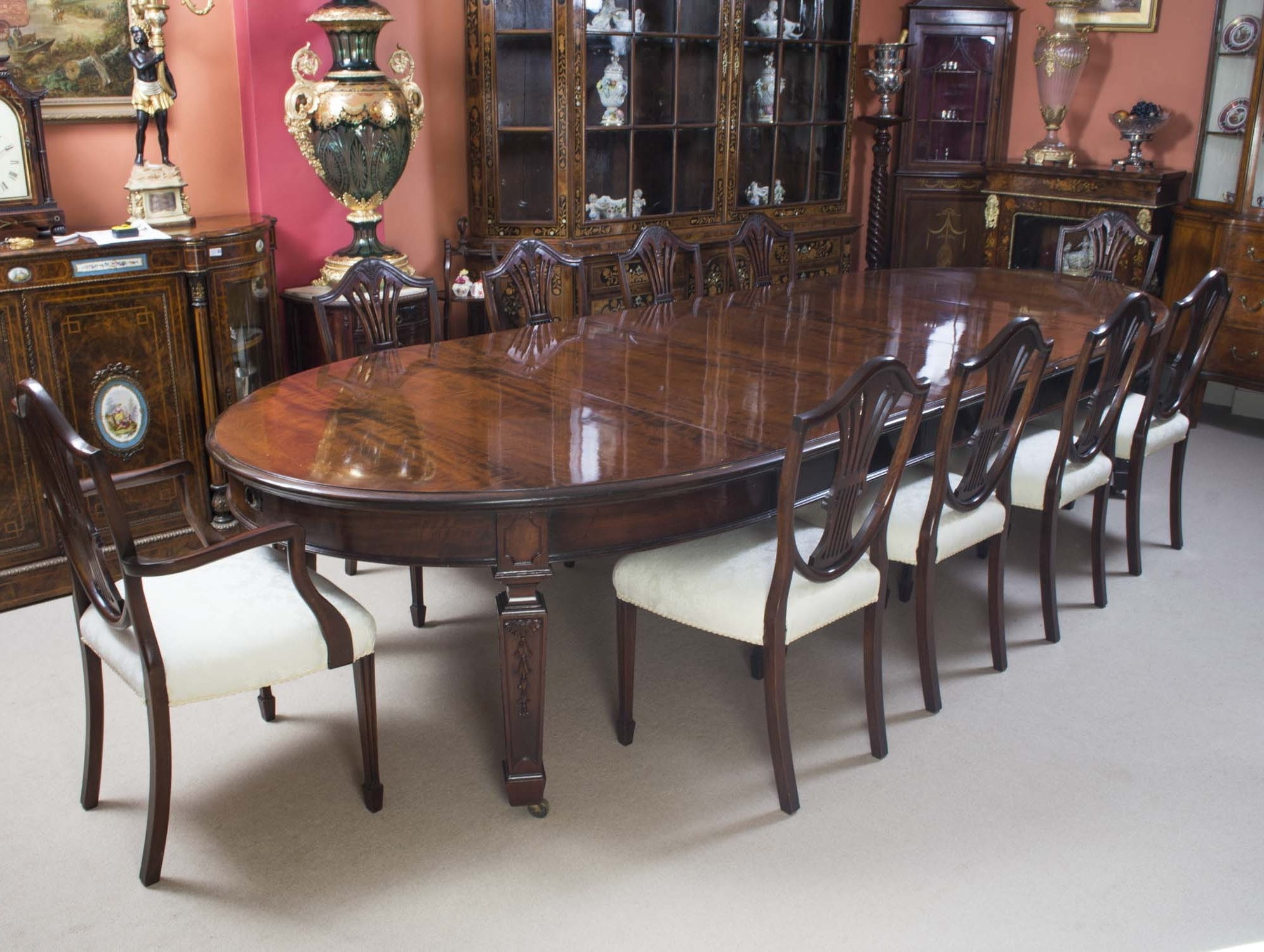 Favorite 10 Seat Dining Tables And Chairs Pertaining To Antique 12Ft 6Quot Edwardian Dining Table 10 Chairs Dining Room (View 13 of 25)