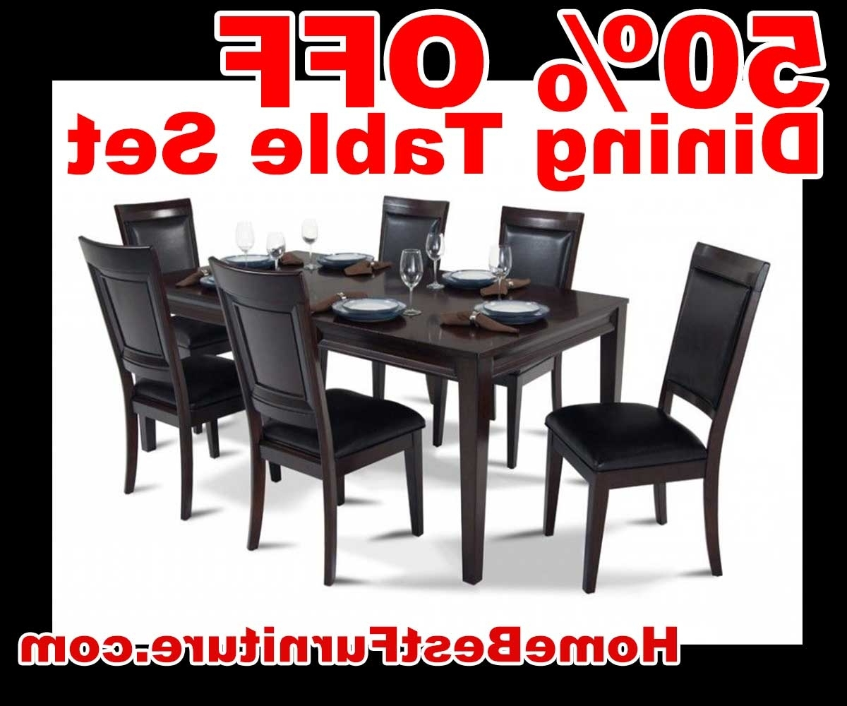 Favorite 50 Percent Off Discount Matrix 7 Piece Dining Table Set Reviews Inside Caira Black 7 Piece Dining Sets With Upholstered Side Chairs (View 8 of 25)