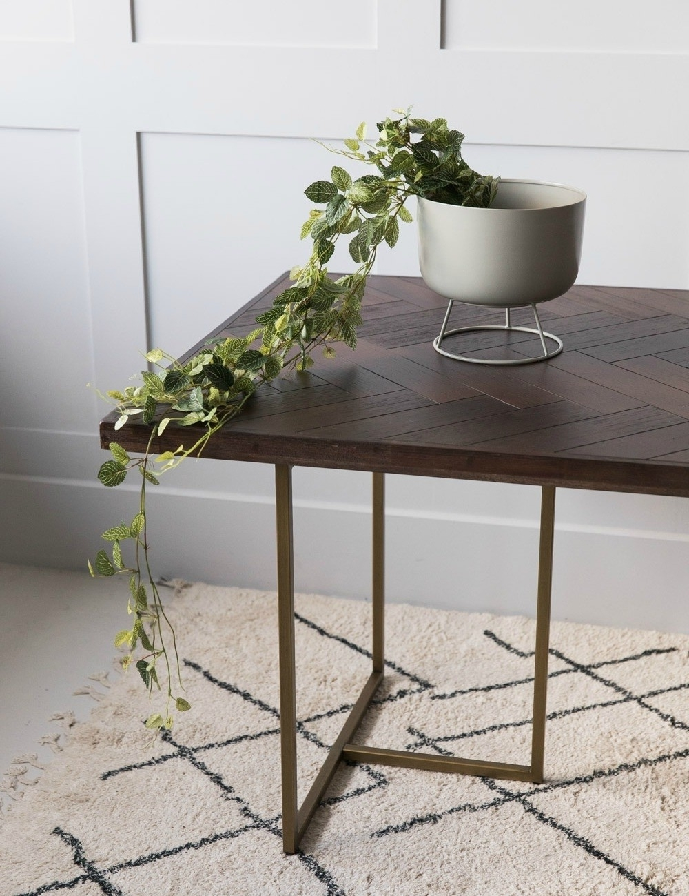 Favorite Acacia & Brass Parquet Dining Table At Rose & Grey With Parquet Dining Tables (View 6 of 25)