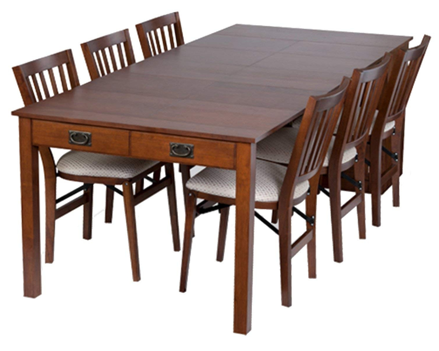 Favorite Amazon – Stakmore Traditional Expanding Table Finish, Fruitwood With Regard To Weaver Dark 7 Piece Dining Sets With Alexa White Side Chairs (View 8 of 25)