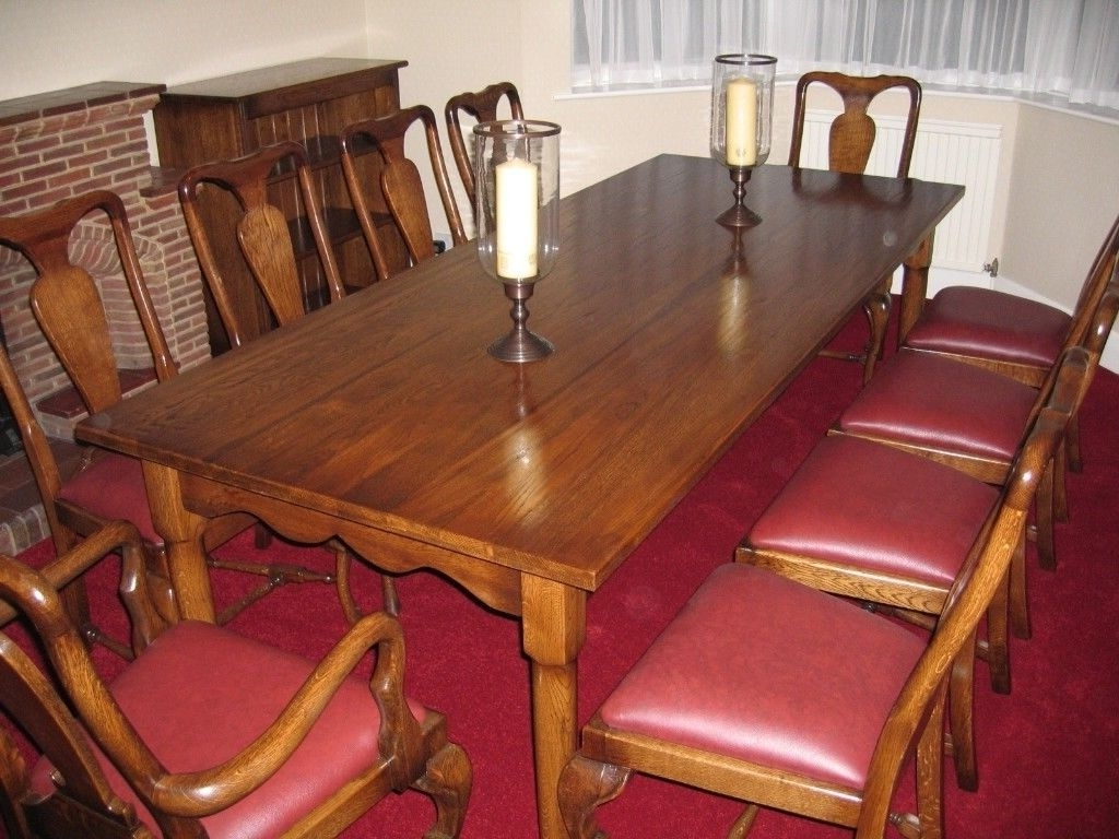 Favorite Beautiful Large Queen Anne Dining Table And 10 Chairs (View 13 of 25)