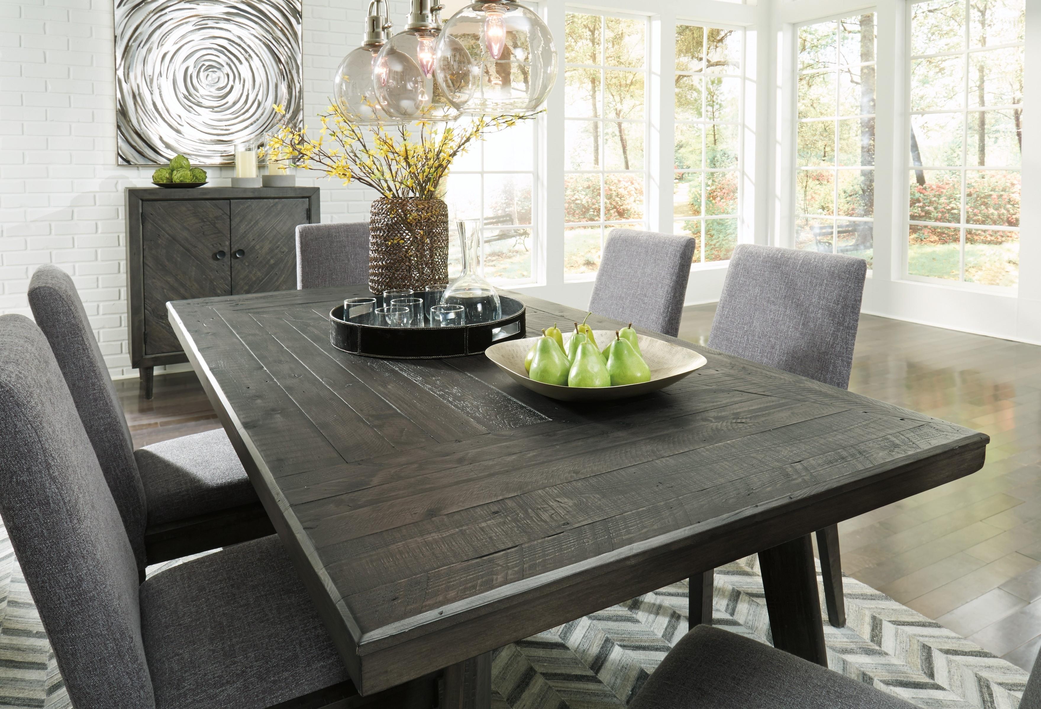 Favorite Besteneer Dark Gray Rectangular Dining Room Table With Regard To Dark Dining Room Tables (View 12 of 25)