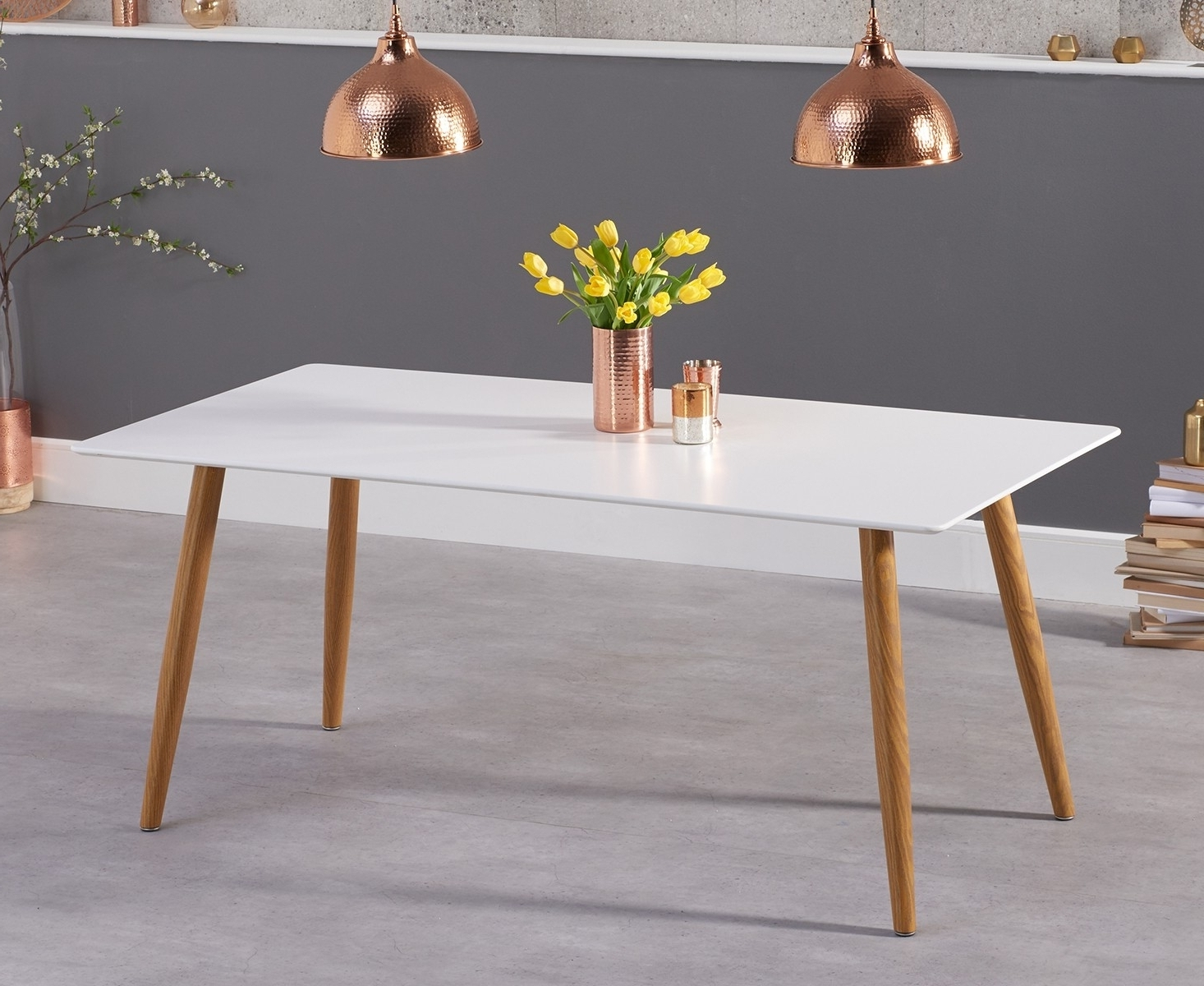 Favorite Buy Wessex Matt White 180Cm Dining Table The Furn Shop With 180Cm Dining Tables (View 7 of 25)