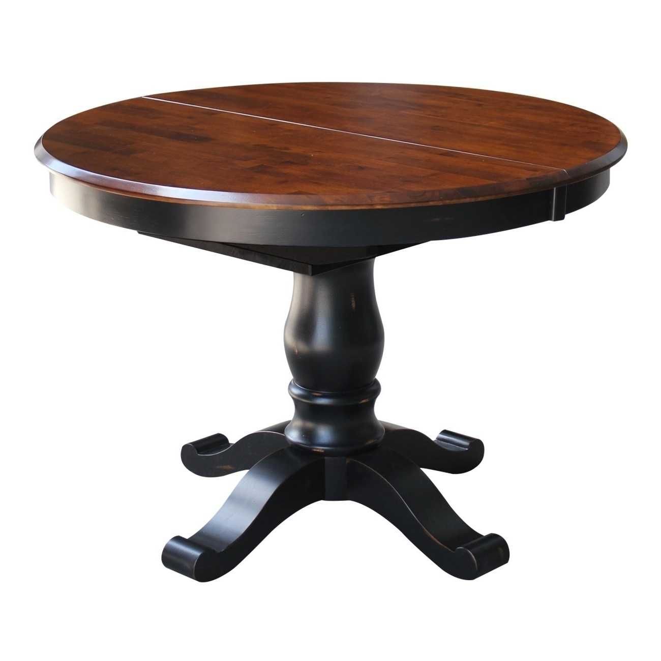 "Favorite Caira Extension Pedestal Dining Tables Regarding International Concepts 42"" Round Top Pedestal Table With (View 10 of 25)"
