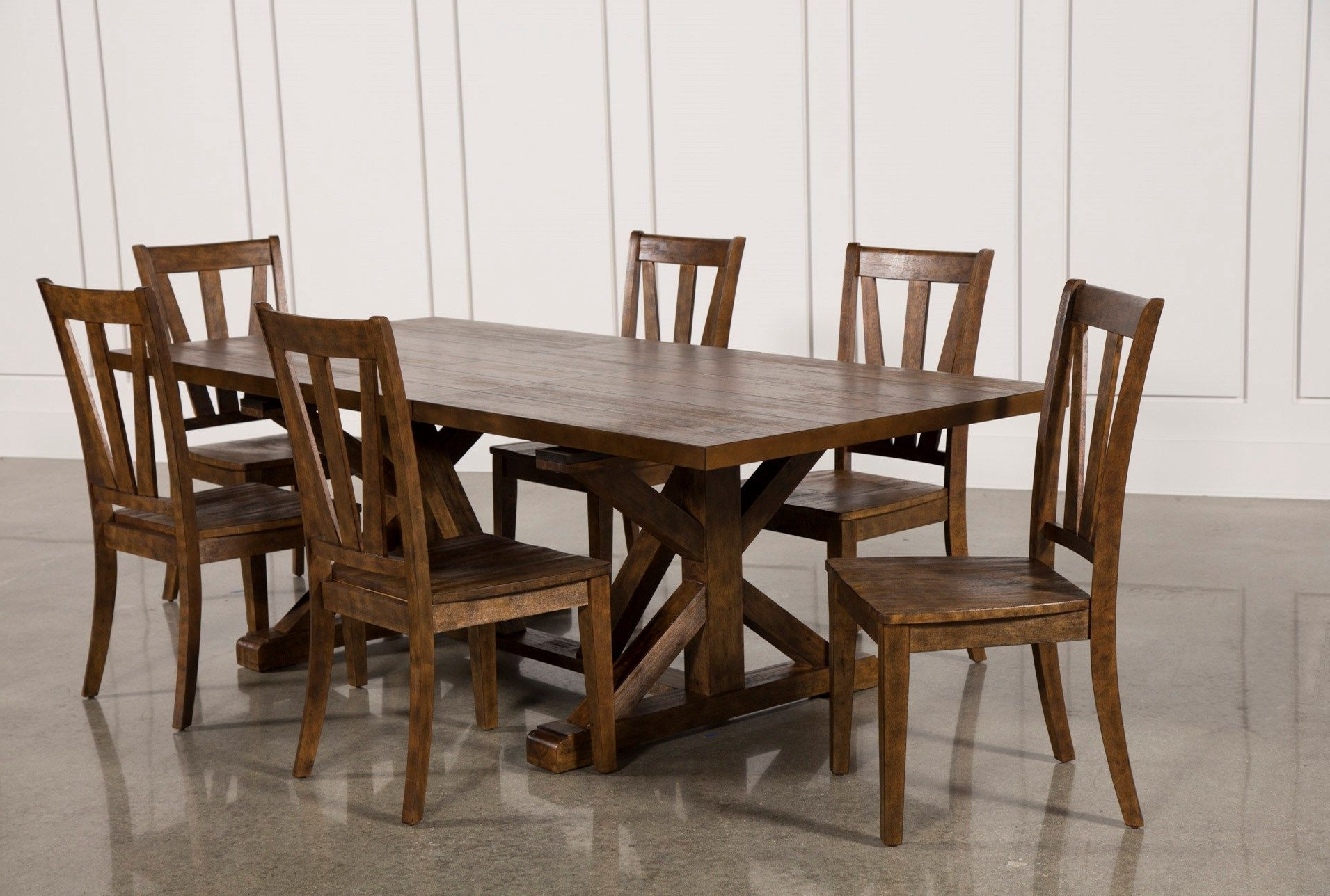Favorite Chandler 7 Piece Extension Dining Sets With Wood Side Chairs Inside Chandler 7 Piece Extension Dining Set W/wood Side Chairs (View 10 of 25)