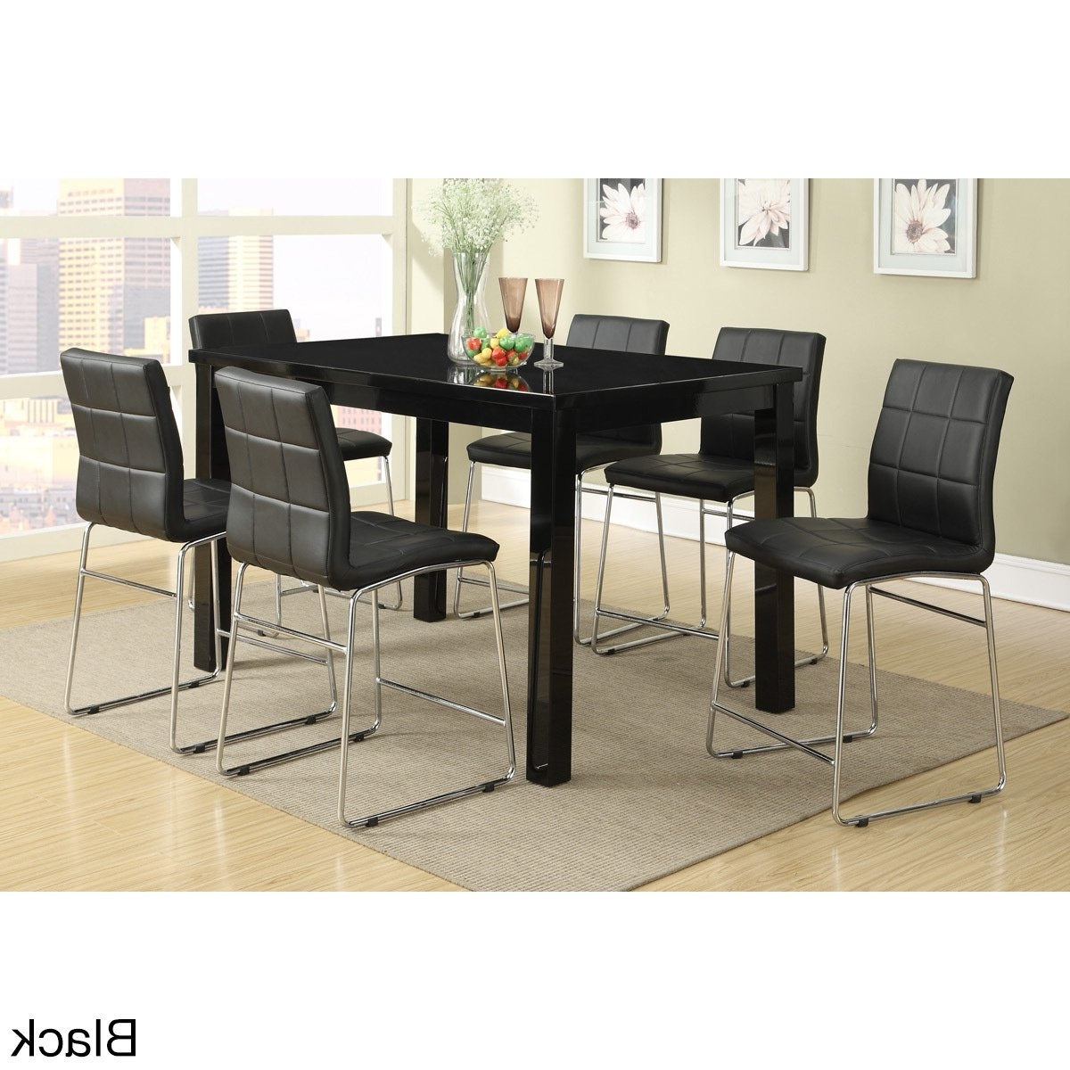 Favorite Chandler 7 Piece Extension Dining Sets With Wood Side Chairs With Regard To Shop Chandler 7 Piece Counter Height Dining Set – Free Shipping (View 11 of 25)