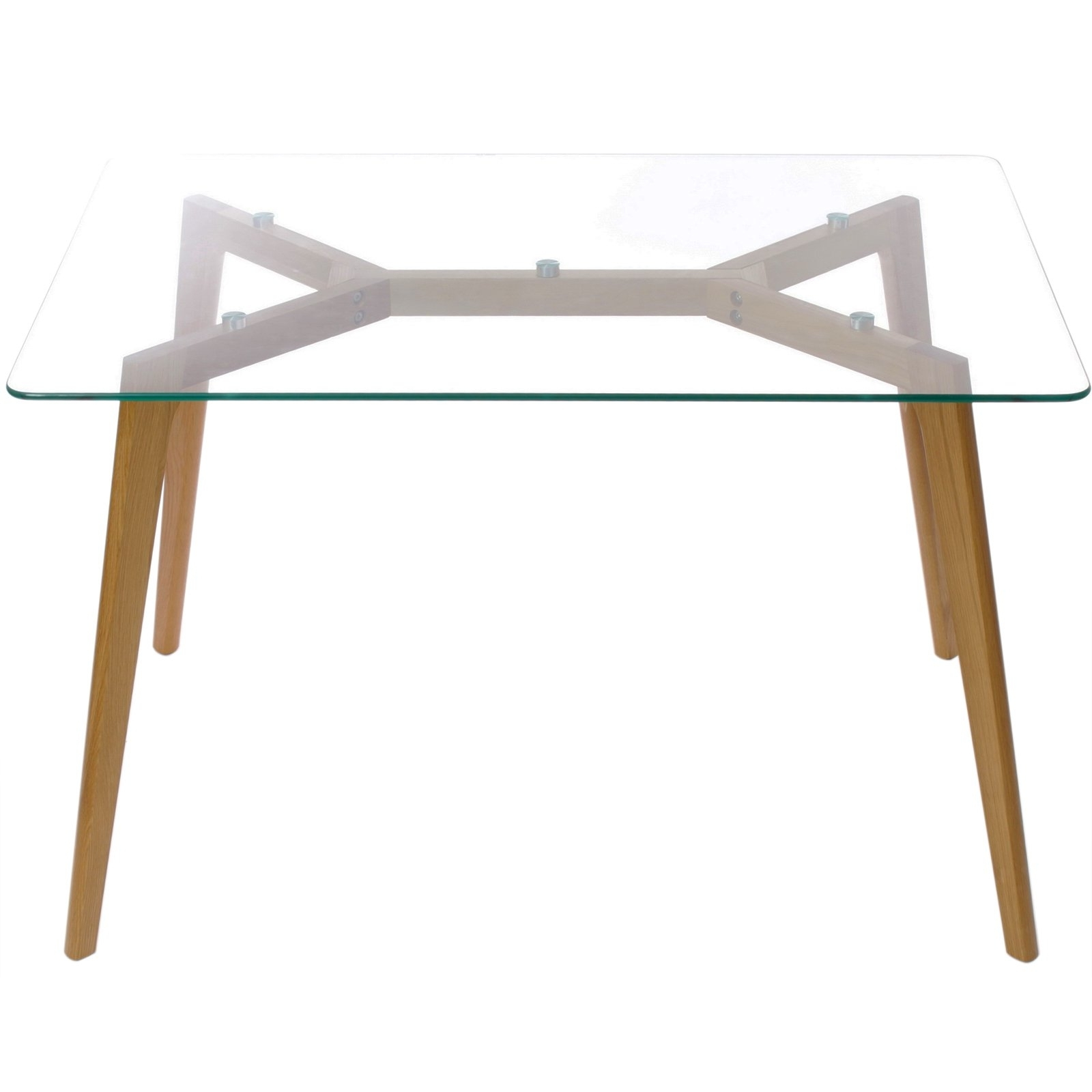 Favorite Charles Jacobs Glass Dining Table With Solid Wood Oak Legs – Choice Intended For Glass Dining Tables With Oak Legs (View 7 of 25)