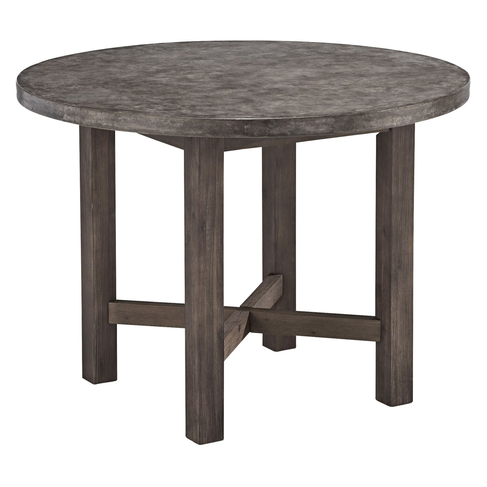 Favorite Circle Dining Tables Regarding Concrete Chic Round Dining Table – Walmart (View 15 of 25)