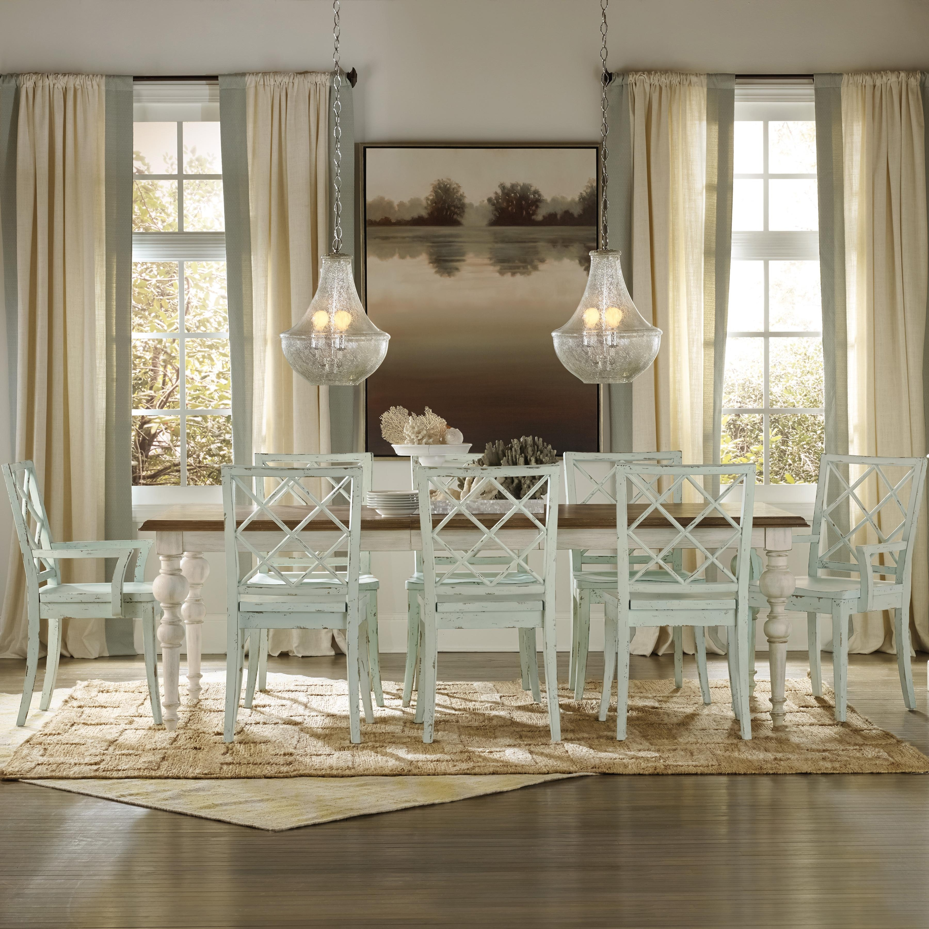 Favorite Coastal Dining Tables For Casual Cottage Coastal 9 Piece Table & Chair Sethooker Furniture (View 11 of 25)