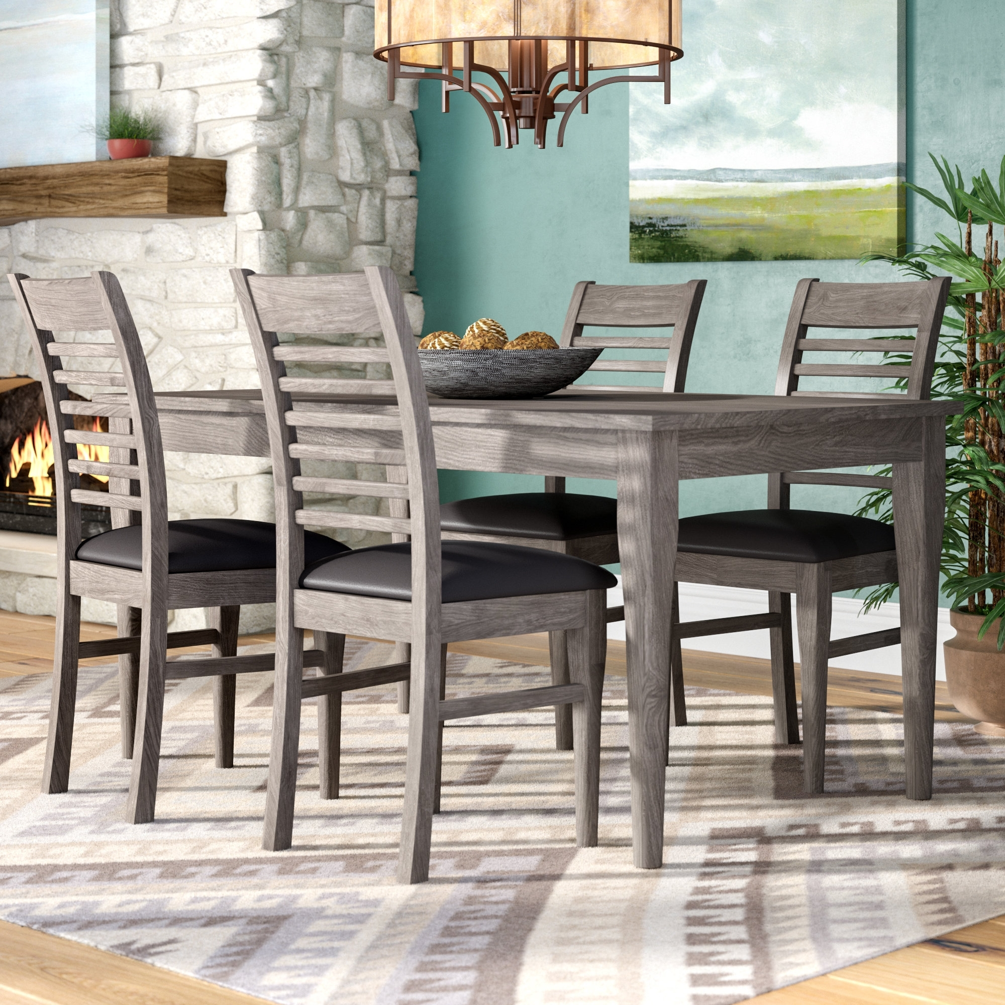 Favorite Cora 7 Piece Dining Sets Intended For Loon Peak Alguno 5 Piece Dining Set & Reviews (View 14 of 25)
