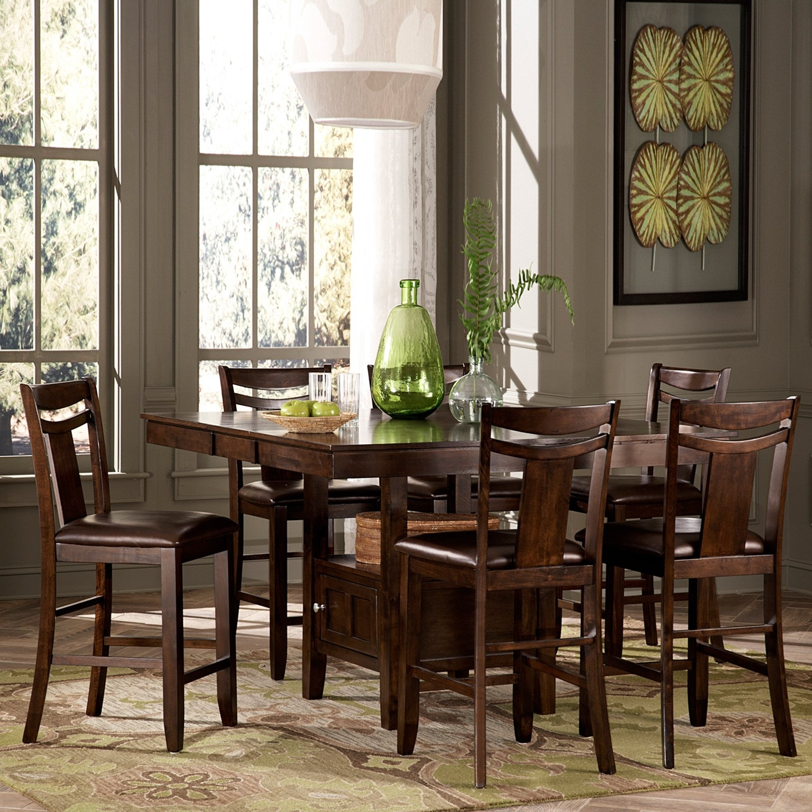 Favorite Cora 7 Piece Dining Sets Intended For Weston Home Broome 7 Piece Counter Height Expandable Storage Dining (View 15 of 25)