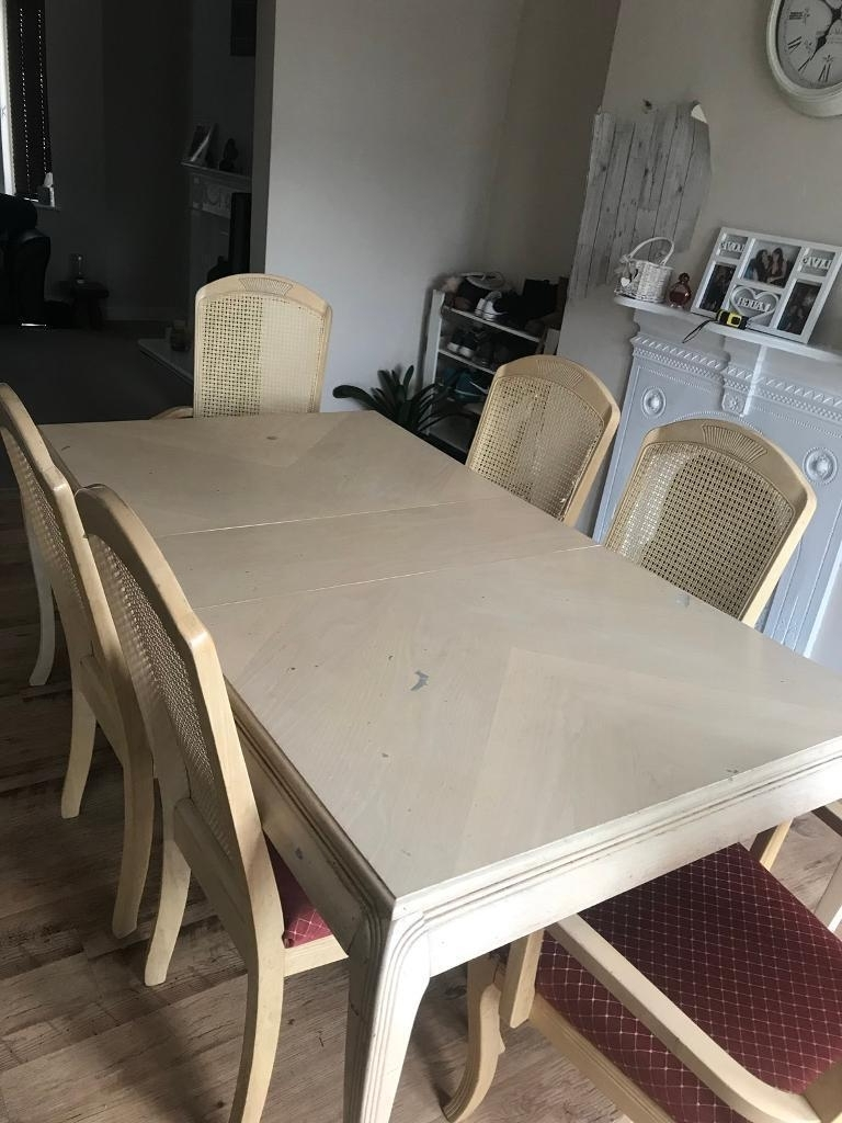 Favorite Cream Dining Tables And Chairs With Regard To Cream Dining Room Table And 6 Chairs (View 15 of 25)