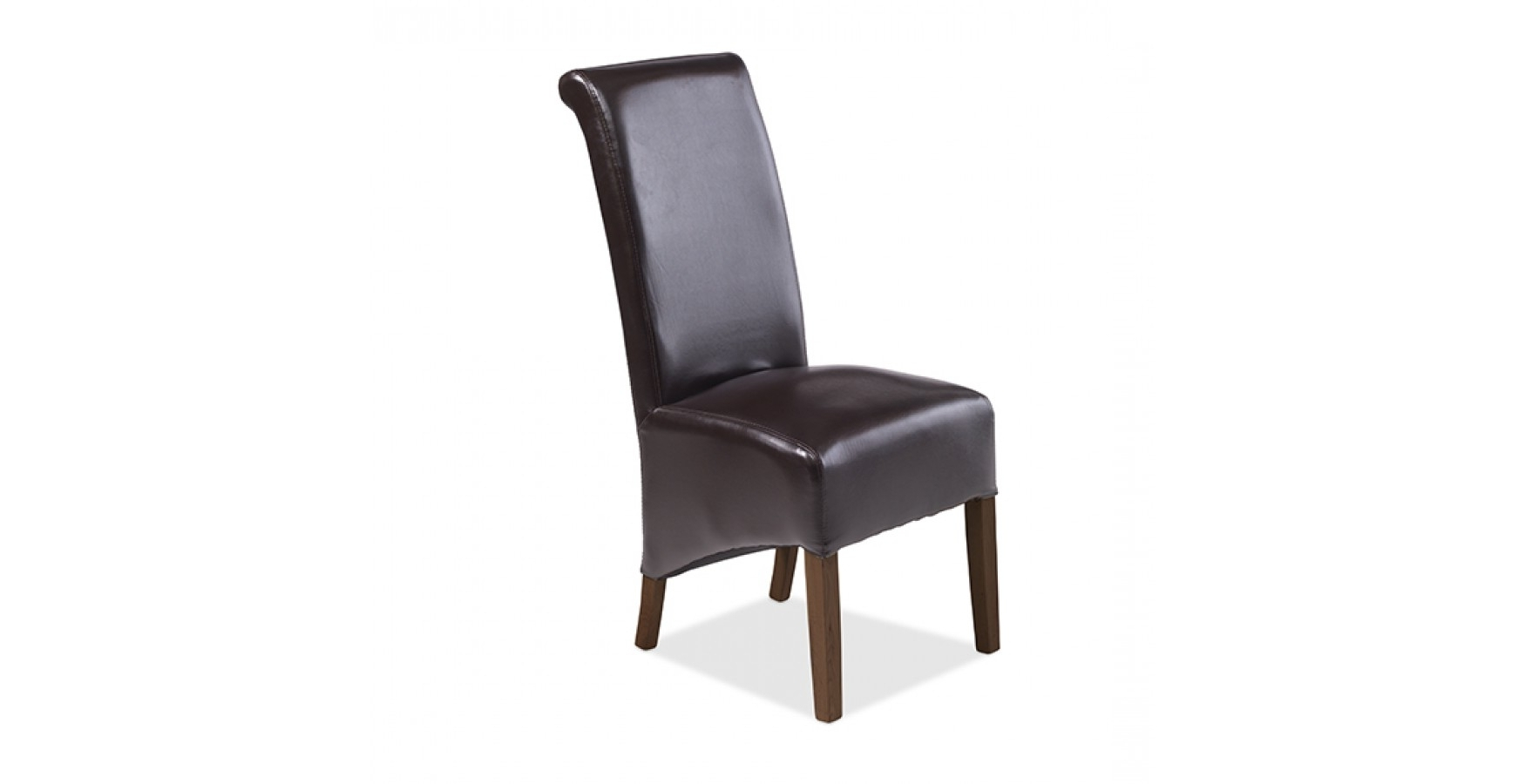 Favorite Dark Brown Leather Dining Chairs In Cuba Bonded Leather Dining Chairs Brown – Pair – Lifestyle Furniture Uk (View 14 of 25)