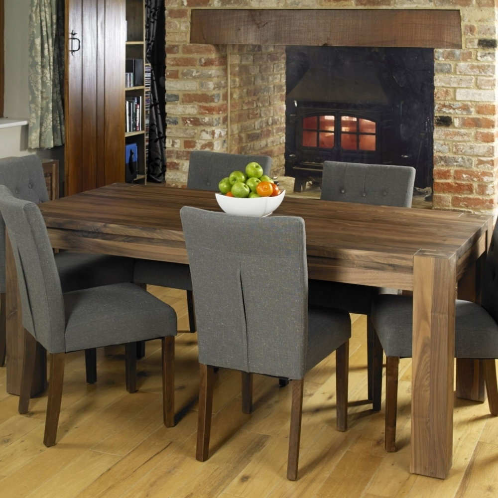 Favorite Dark Wood Dining Room Furniture Regarding Shiro Solid Walnut Dark Wood Dining Room Furniture Six Seater Dining (View 13 of 25)