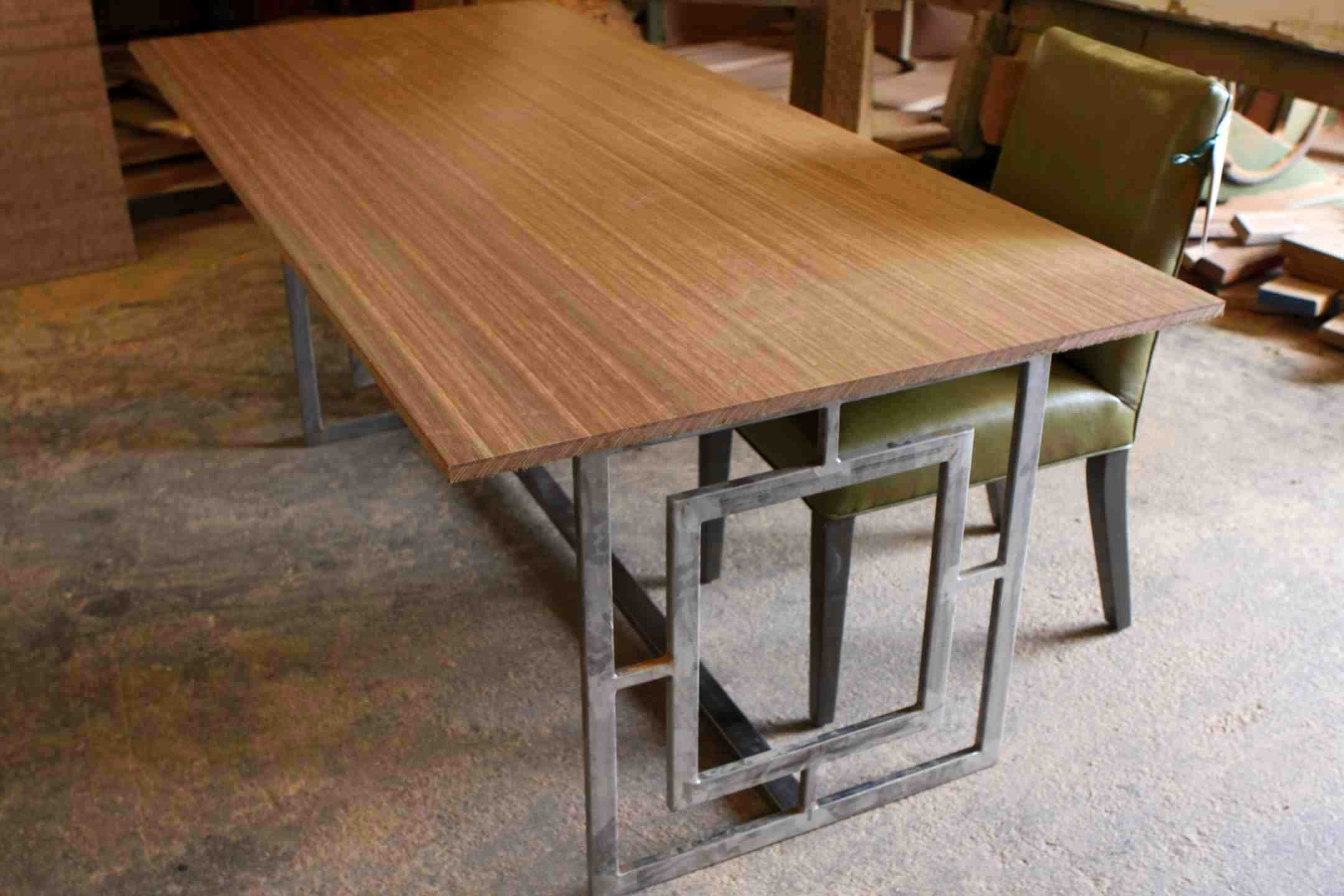 Favorite Extraordinary Wood Top Dining Table Metal Ideas Ith Butcherblock Top Regarding Dining Tables With Metal Legs Wood Top (View 4 of 25)