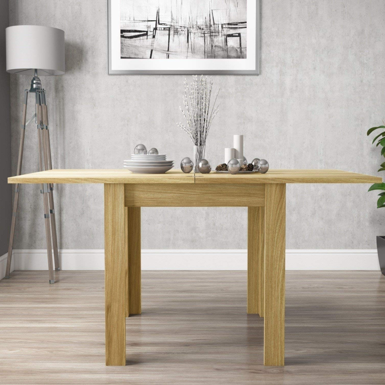 Favorite Flip Top Oak Dining Tables Within Petal Painted Oak Furniture Flip Top Dining Table 90Cm: Amazon.co (View 7 of 25)