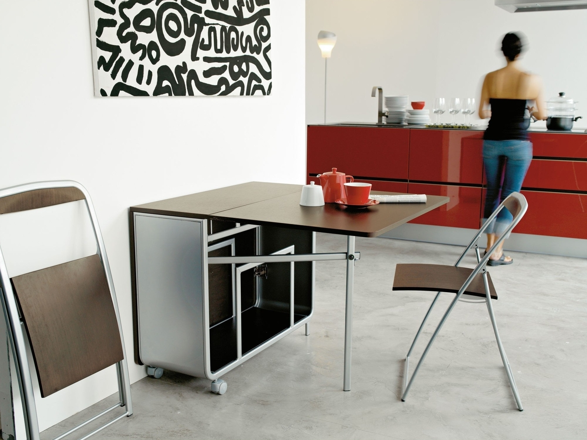 Favorite Folding Dining Table And Chairs Sets With Folding Chairs For Dining Room – Kallekoponen (View 6 of 25)
