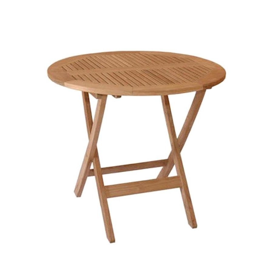 Favorite Folding Dining Tables Regarding Shop Anderson Teak Windsor Round Teak Folding Dining Table At Lowes (View 18 of 25)