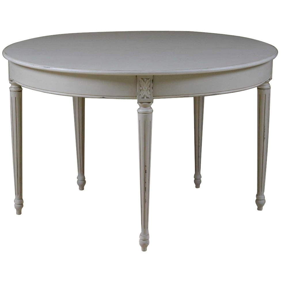 Favorite French Chic Dining Tables In Louis French Light Grey Folding Round Dining Table (View 6 of 25)