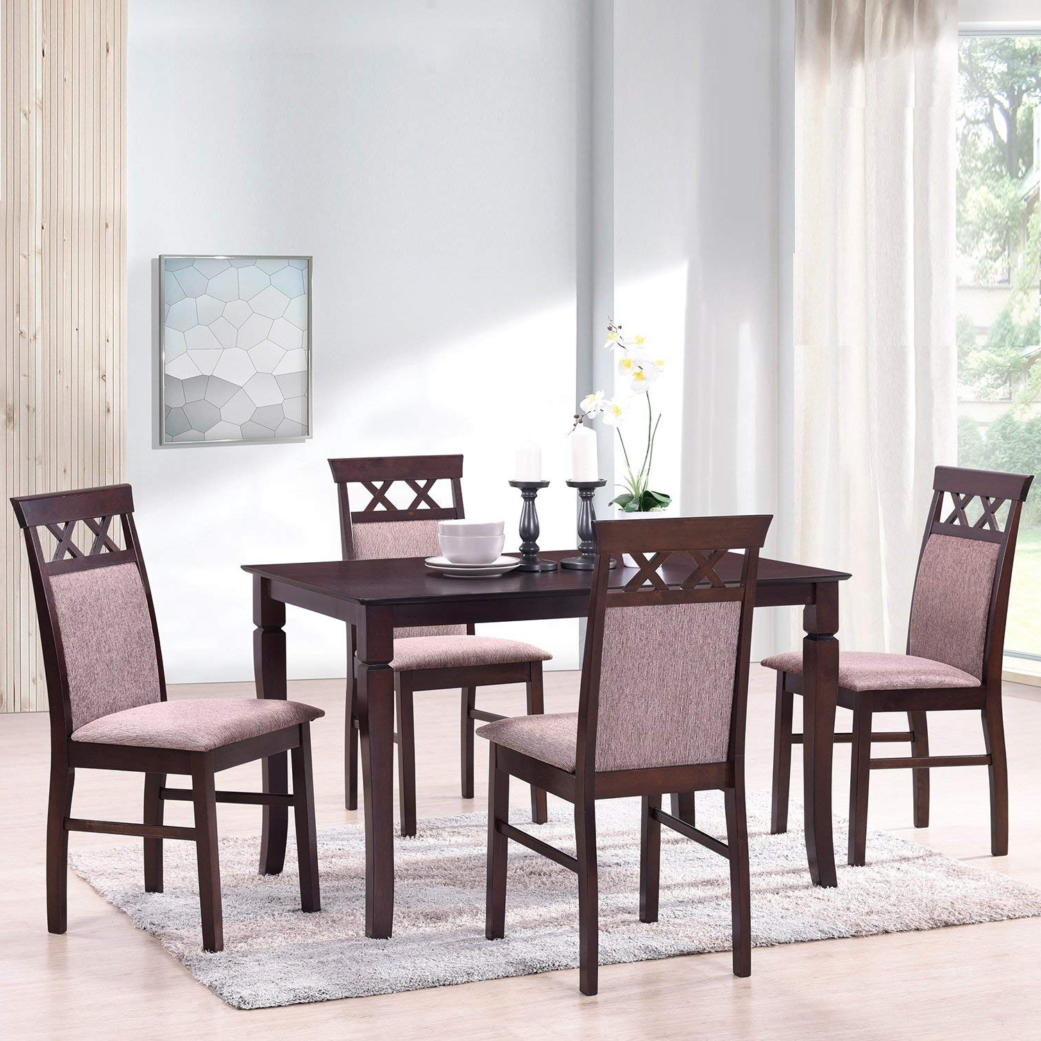 Favorite Harper 5 Piece Counter Sets In Amazon: Merax Harper&bright Designs 5 Piece Dining Set Rubber (View 17 of 25)