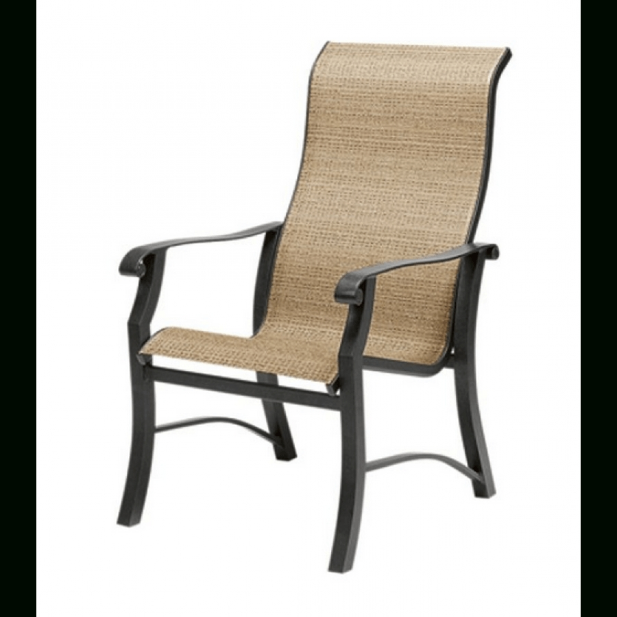 Favorite High Back Dining Chairs Within Woodard Cortland Aluminum Sling High Back Dining Chair (View 10 of 25)
