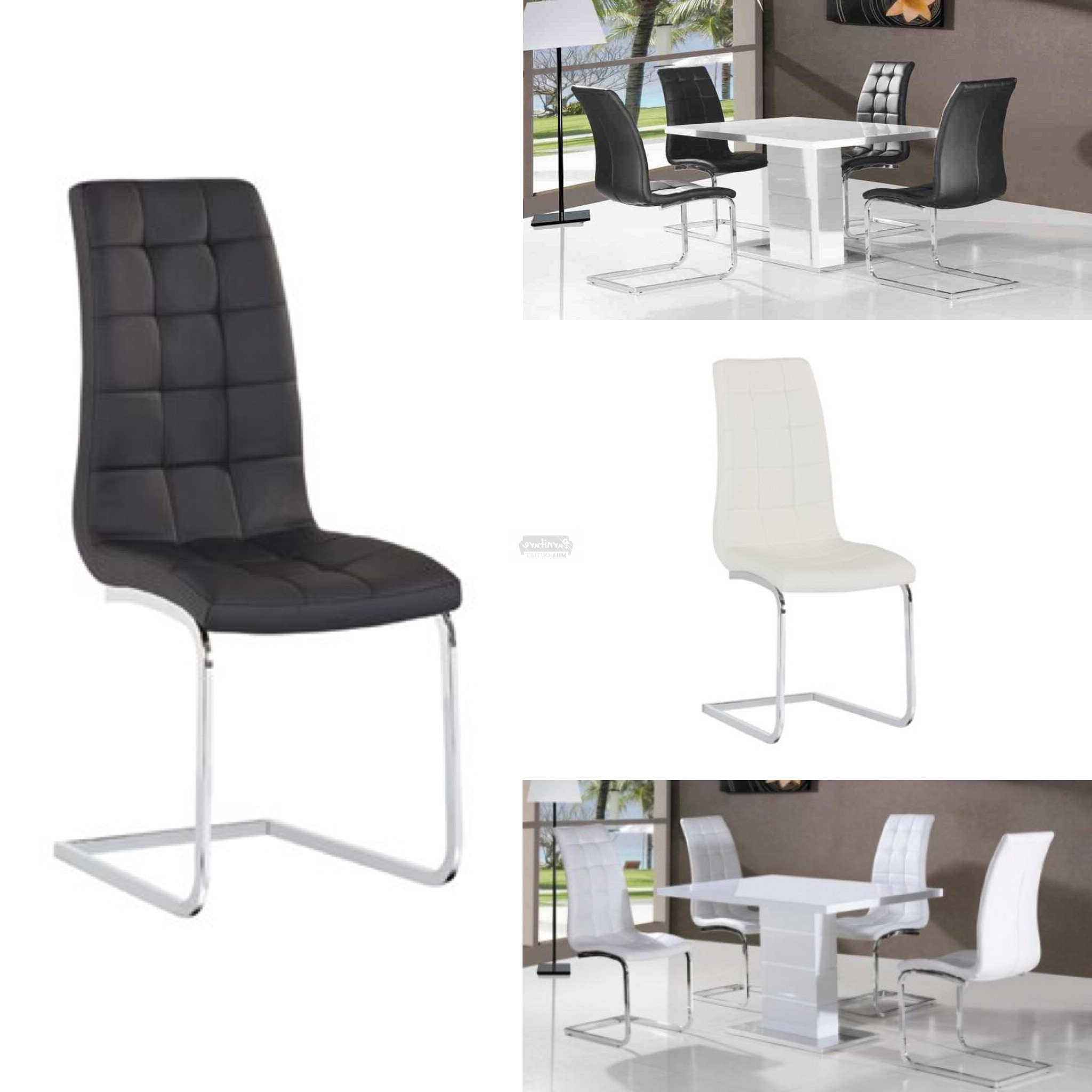 Favorite High Gloss Dining Tables Sets In Ice White Gloss Dining Table & 4 X Leather Chair Set – Furniture (View 17 of 25)