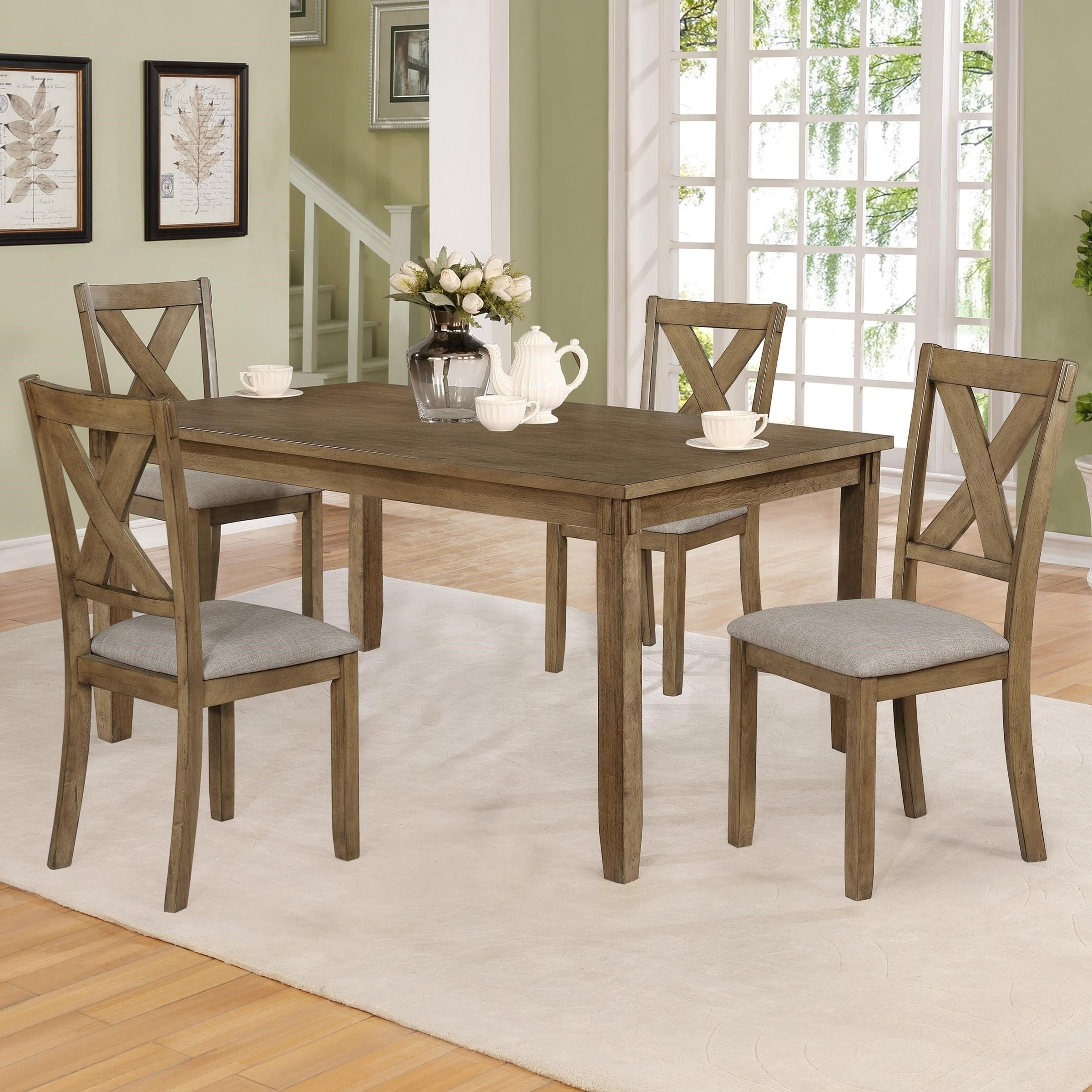Favorite Hyland 5 Piece Counter Sets With Stools In Crown Mark Clara 2321Wt Set 5 Piece Table And Chairs Set (View 22 of 25)