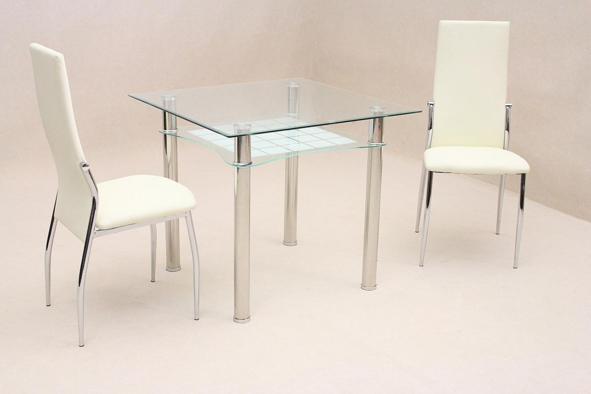 Favorite Jazo Dining Table Chrome 2 Lazio Chairs – Landlordstore.co (View 5 of 25)