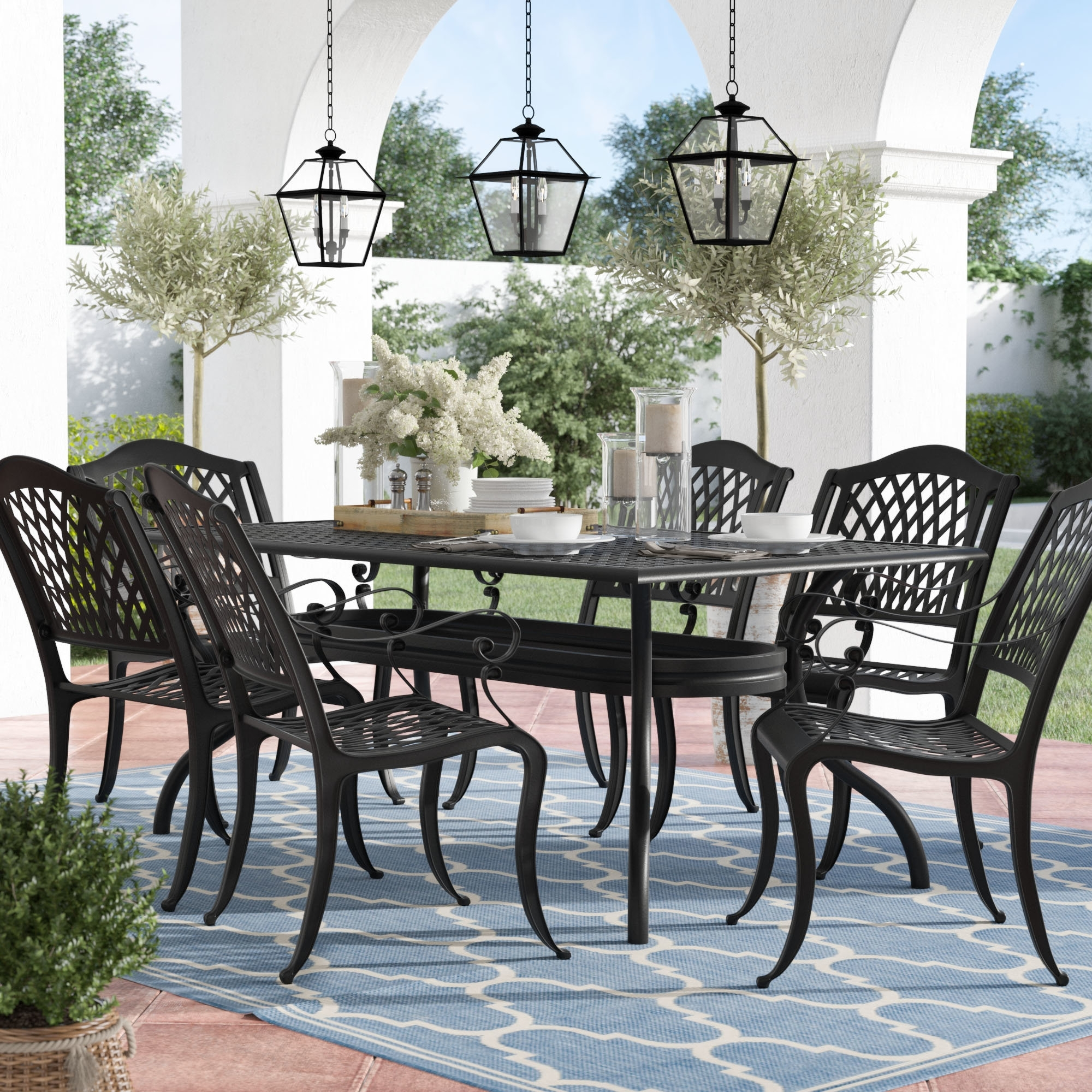 Favorite Kirsten 6 Piece Dining Sets Intended For Alcott Hill Castle Heights 7 Piece Dining Set & Reviews (View 8 of 25)