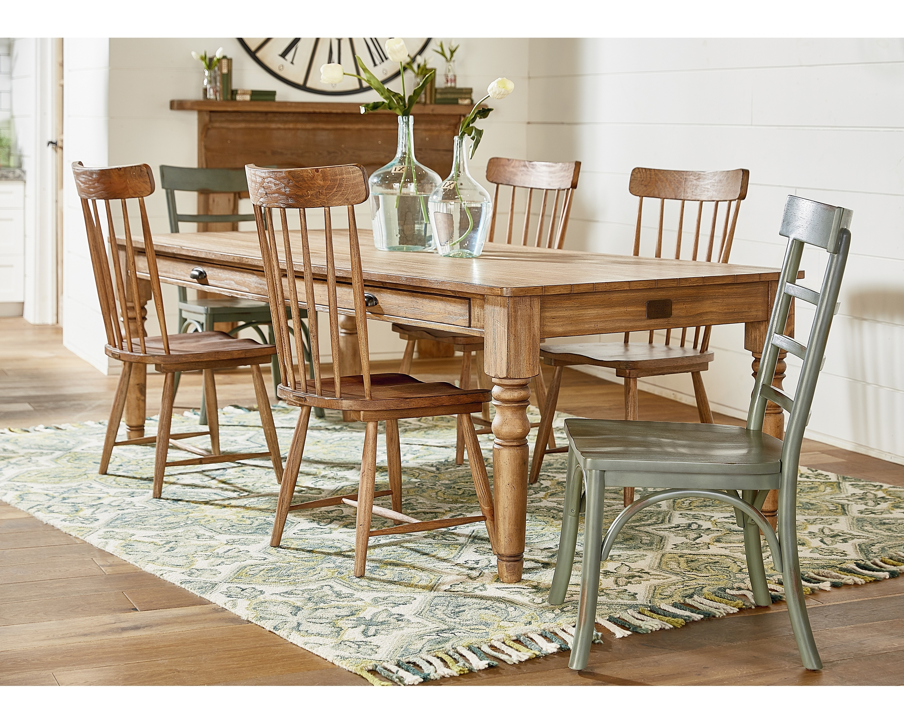 Favorite Magnolia Home Bench Keeping 96 Inch Dining Tables Throughout Taper Turned Dining Table – Magnolia Home (View 2 of 25)